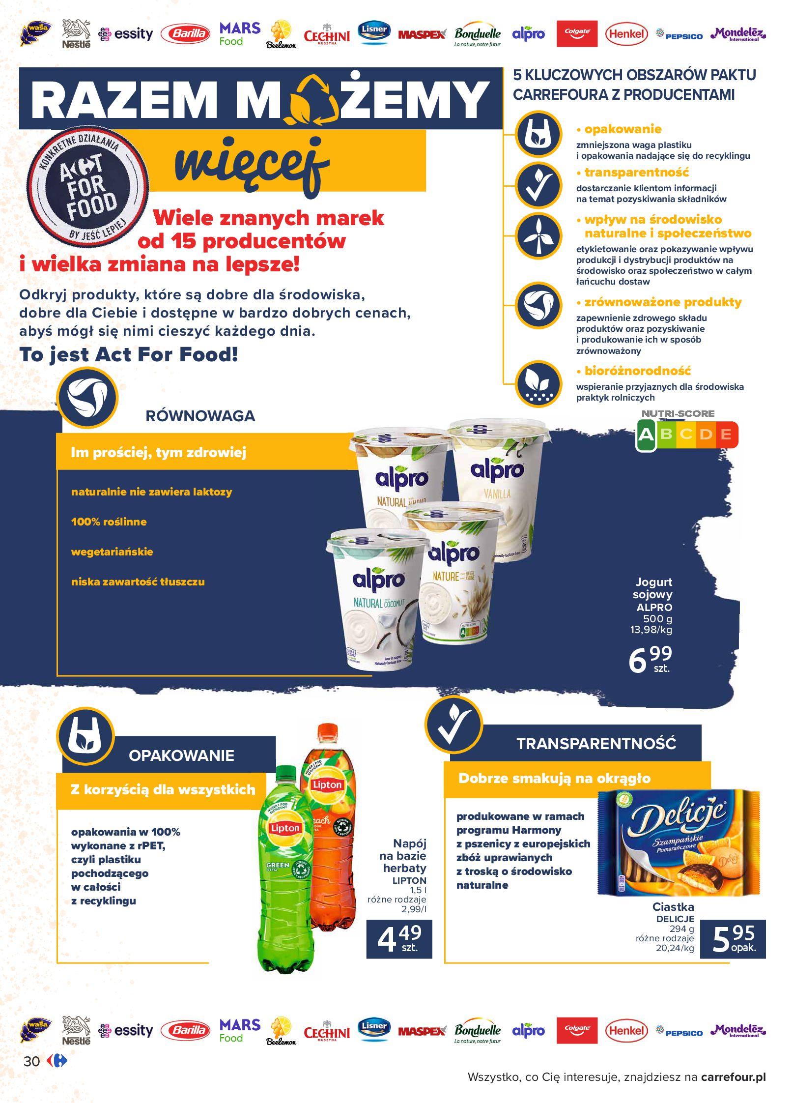 Gazetka Carrefour: Gazetka Carrefour - Możemy mądrze jeść! 2021-09-14 page-30