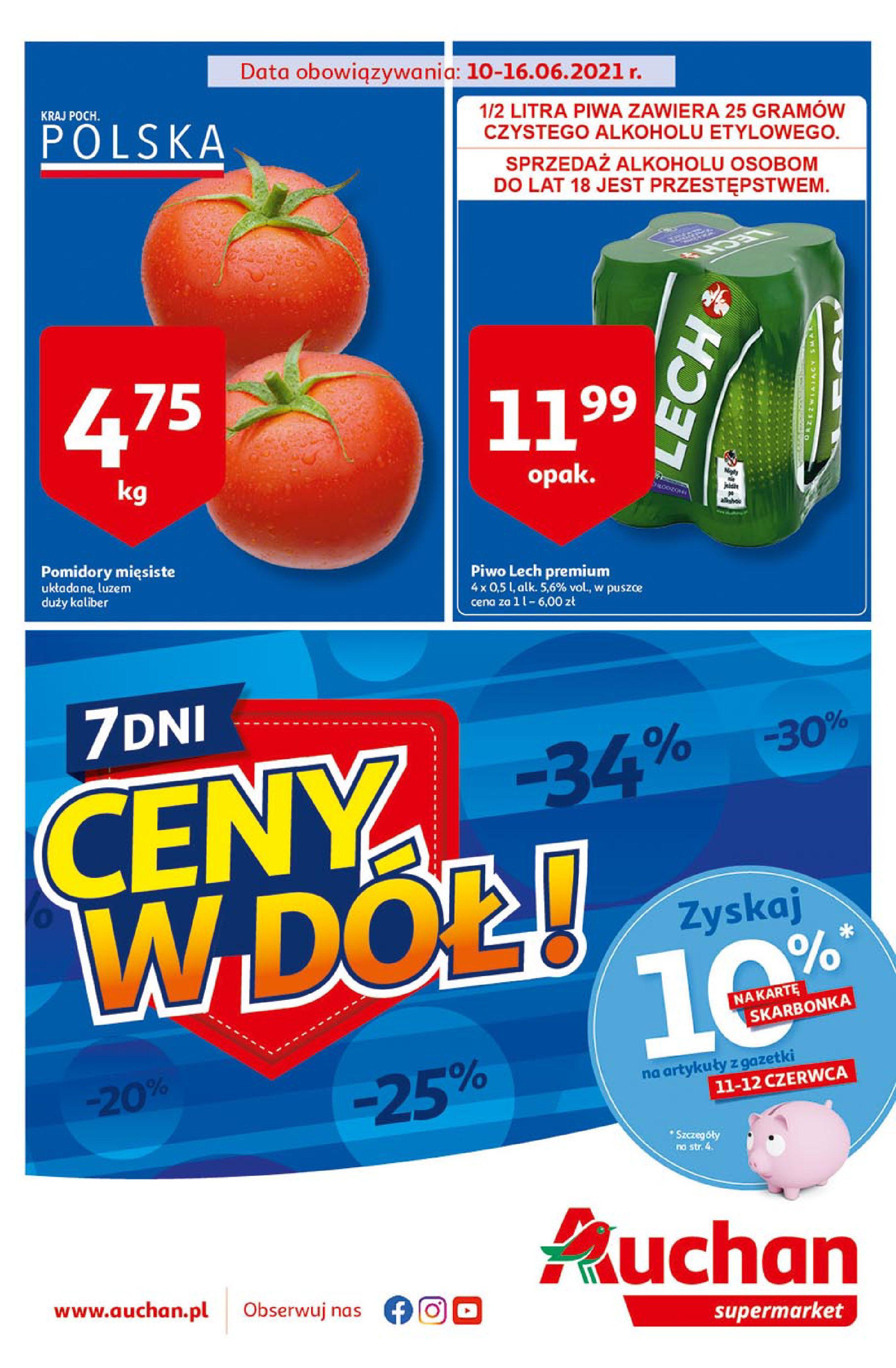 Gazetka Auchan: Gazetka Auchan Supermarket - 09.06.2021