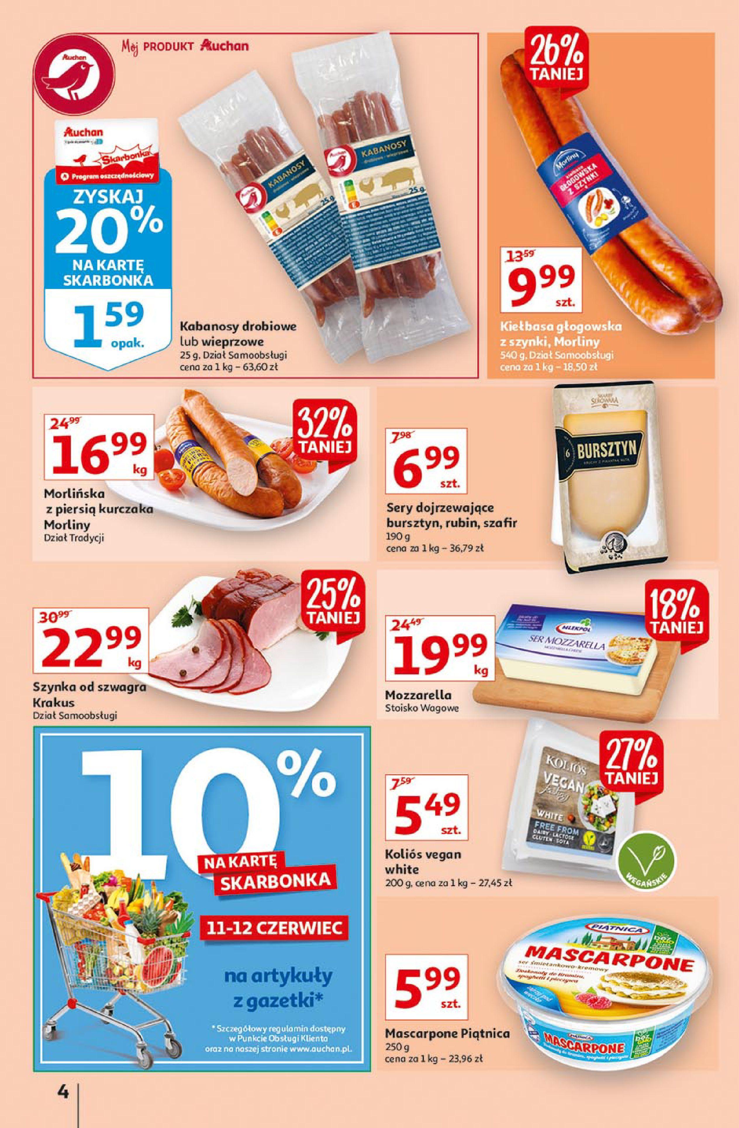 Gazetka Auchan: Gazetka Auchan Supermarket 2021-06-10 page-4