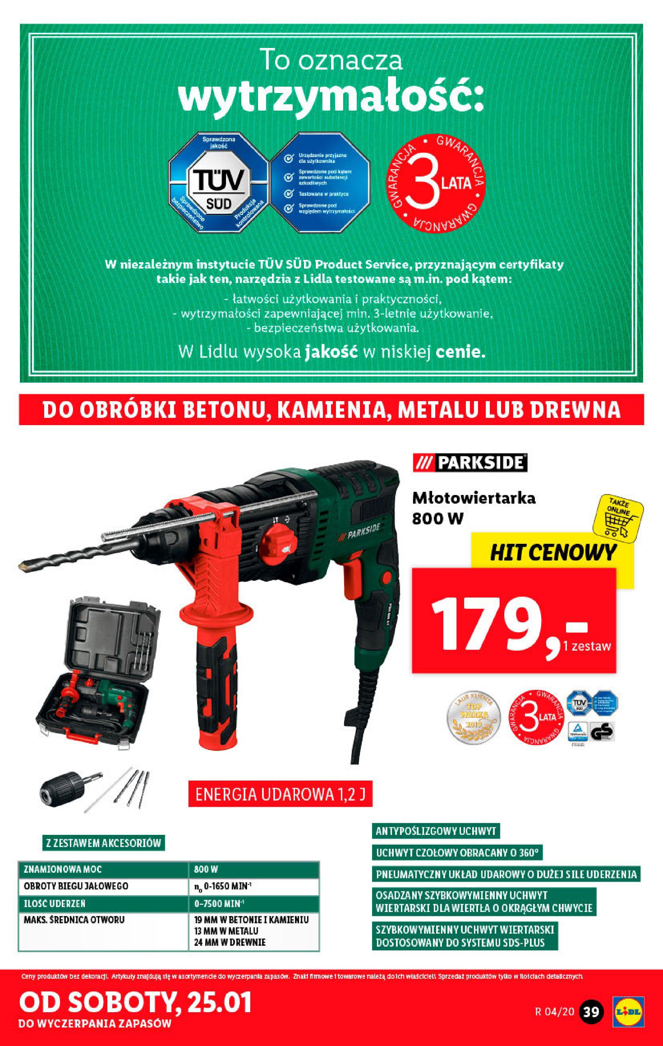 Gazetka Lidl - Katalog od poniedziałku-19.01.2020-26.01.2020-page-39