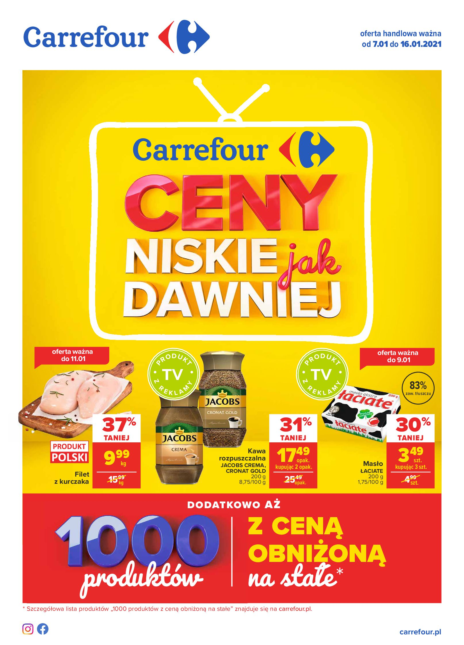 Carrefour:  Ceny niskie jak dawniej - Carrefour 06.01.2021