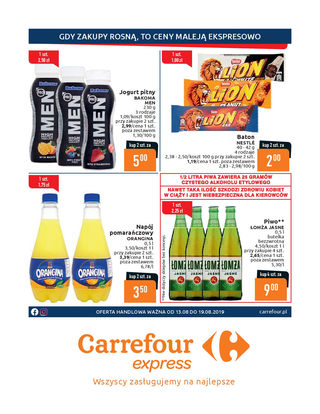 Gazetka Carrefour Express - Gdy zakupy rosną, to ceny maleją ekspresowo-12.08.2019-19.08.2019-page-1