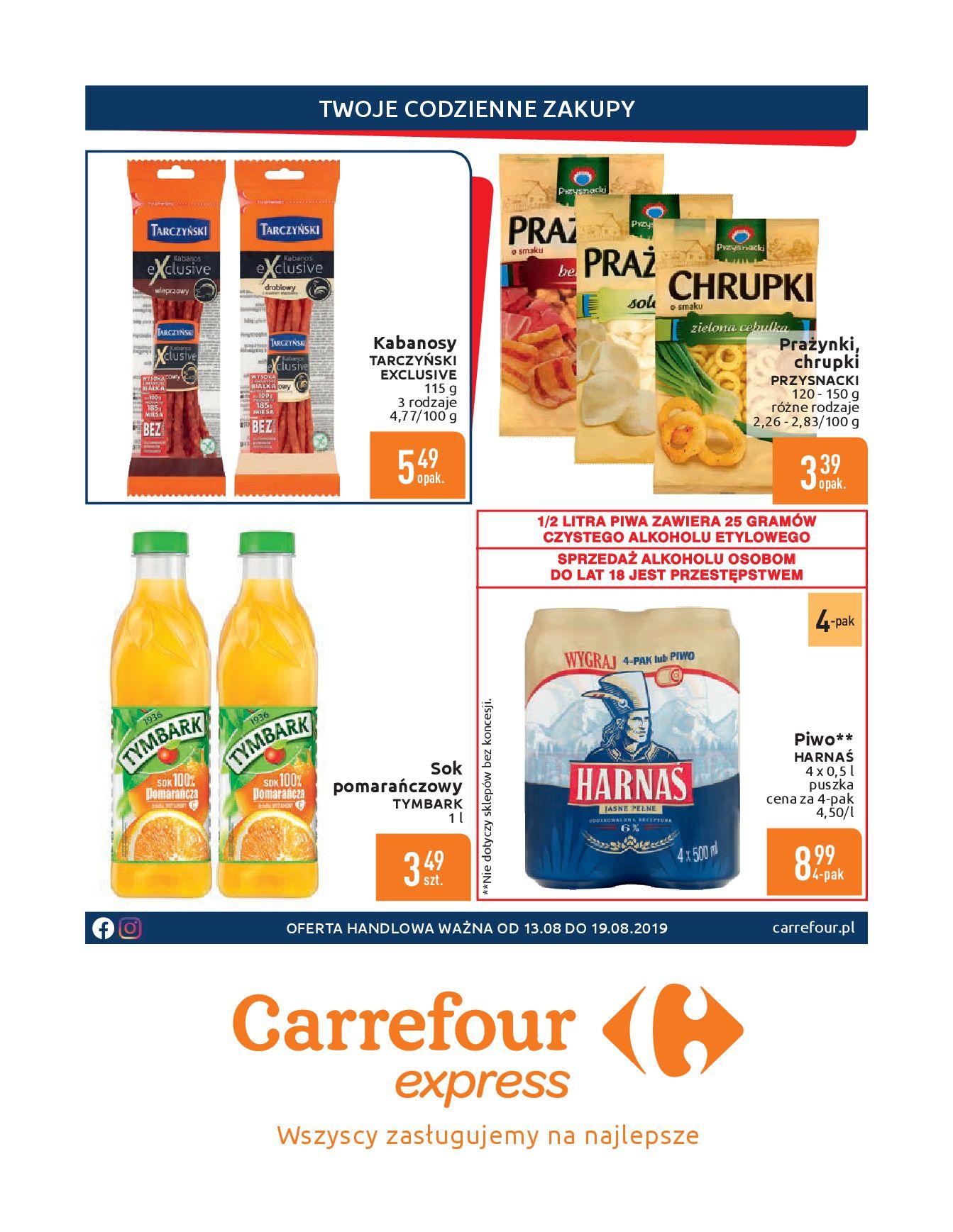 Gazetka Carrefour Express - Gdy zakupy rosną, to ceny maleją ekspresowo-12.08.2019-19.08.2019-page-2
