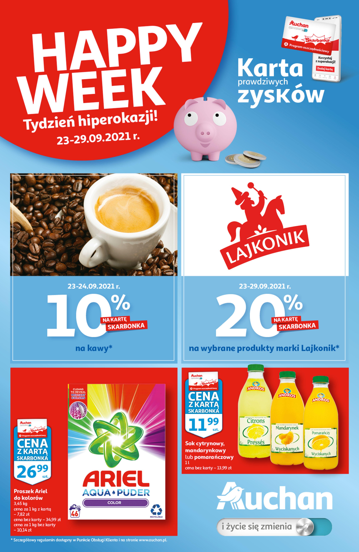 Auchan:  Gazetka Auchan - Skarbonka #38 22.09.2021