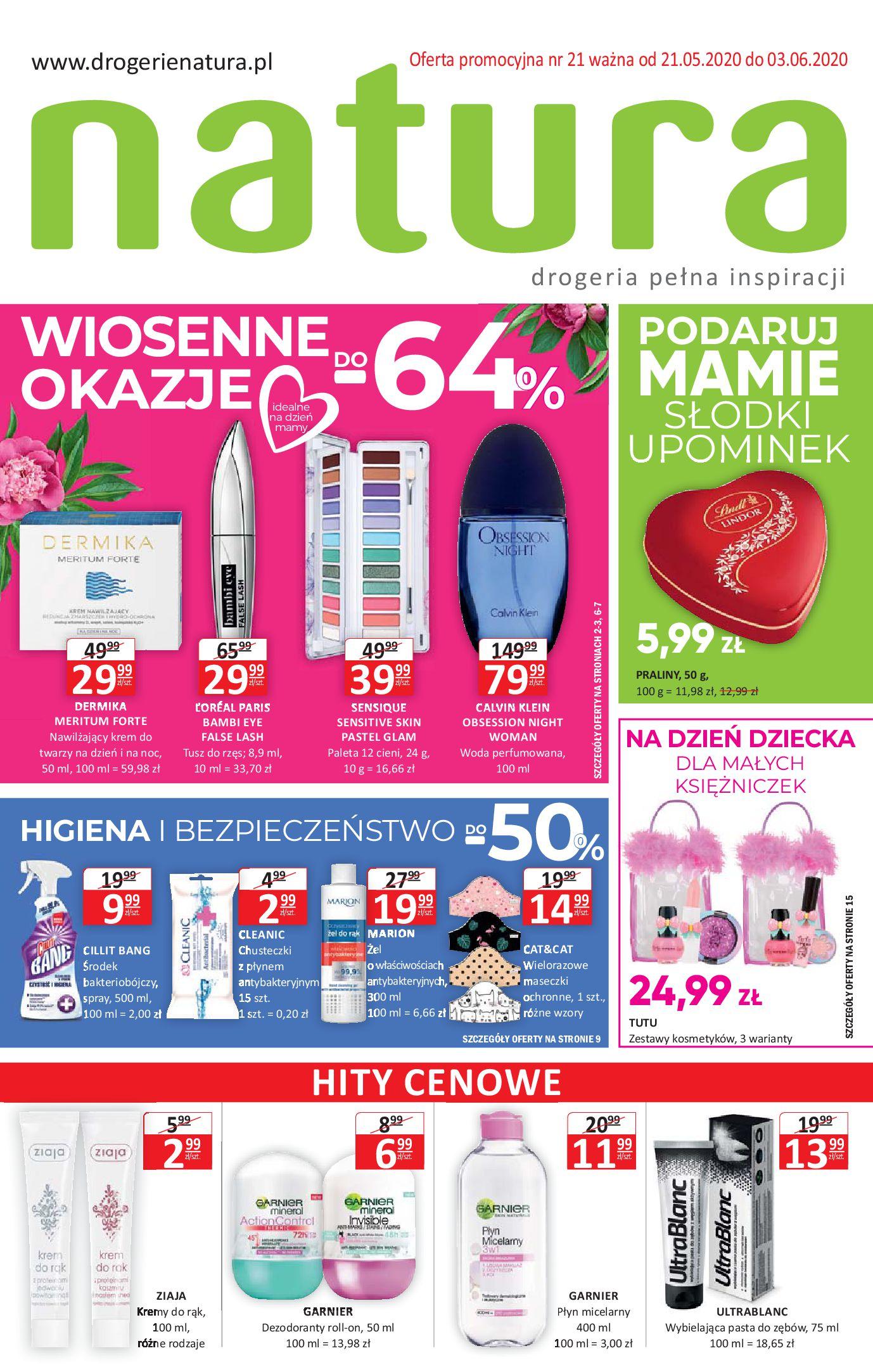 Gazetka Drogerie Natura - Gazetka promocyjna-20.05.2020-03.06.2020-page-1