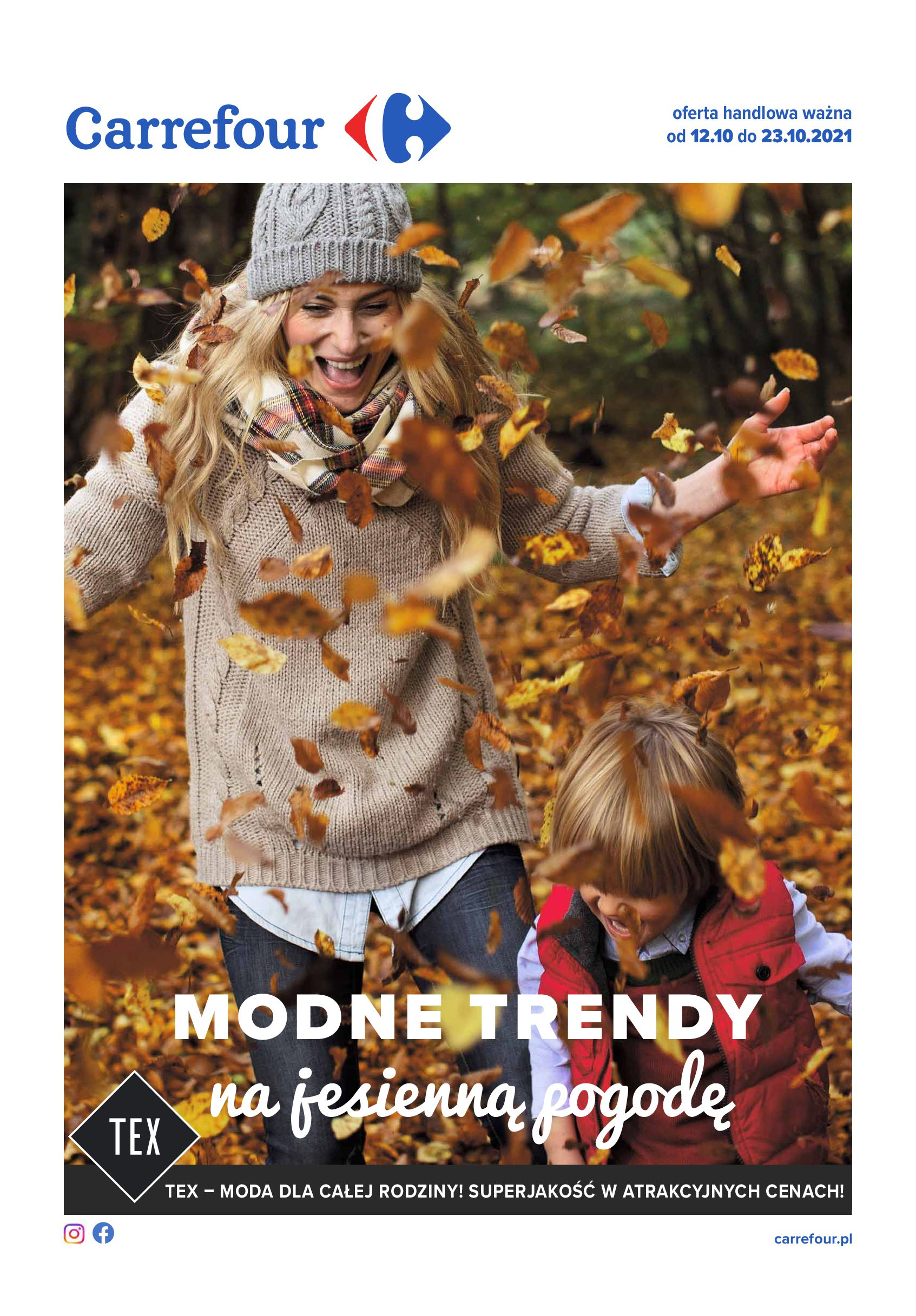 Carrefour:  Gazetka Carrefour - Modne trendy na jesienną pogodę 11.10.2021