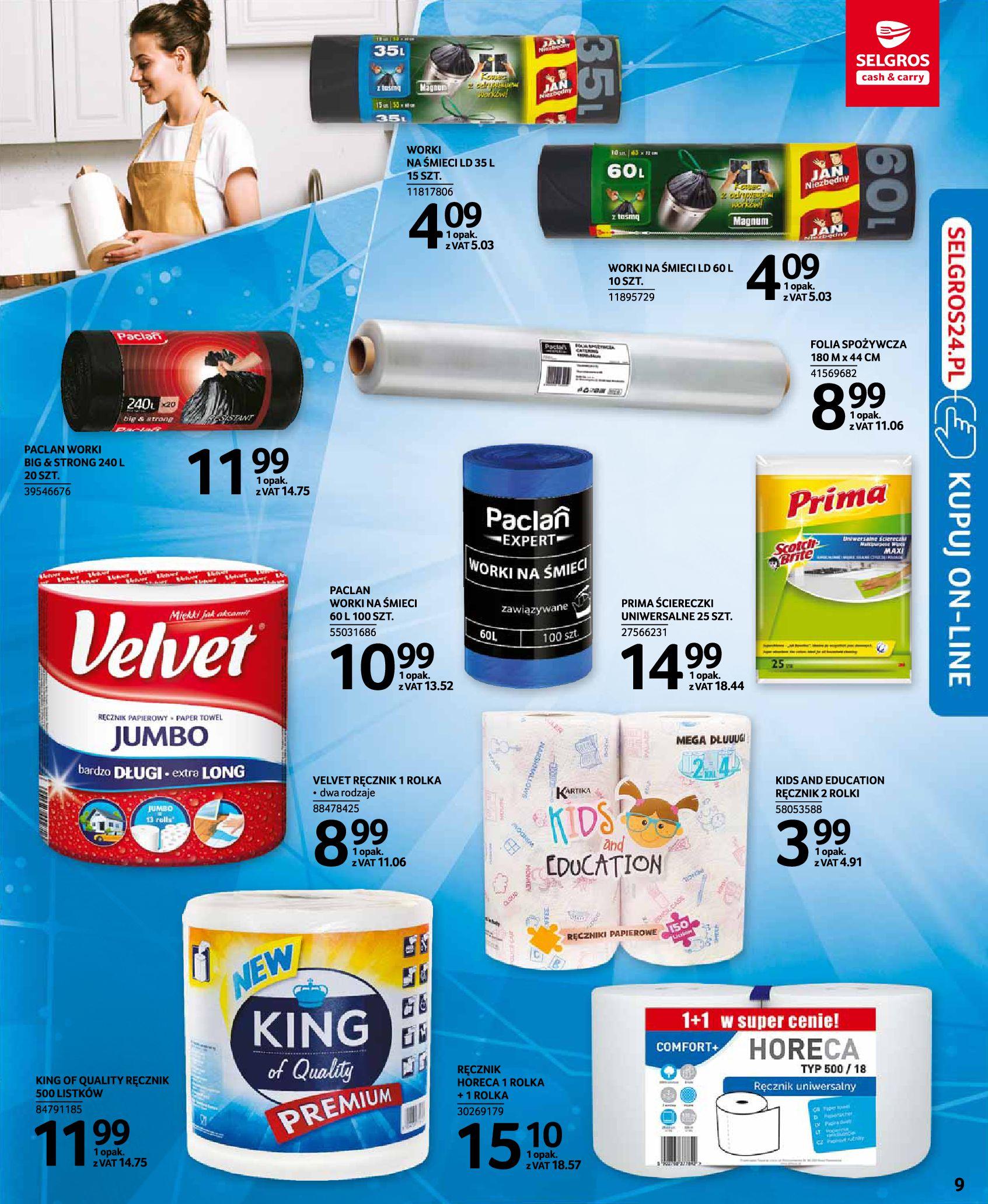 Gazetka Selgros: Katalog Sprzątanie 2020-11-19 page-9