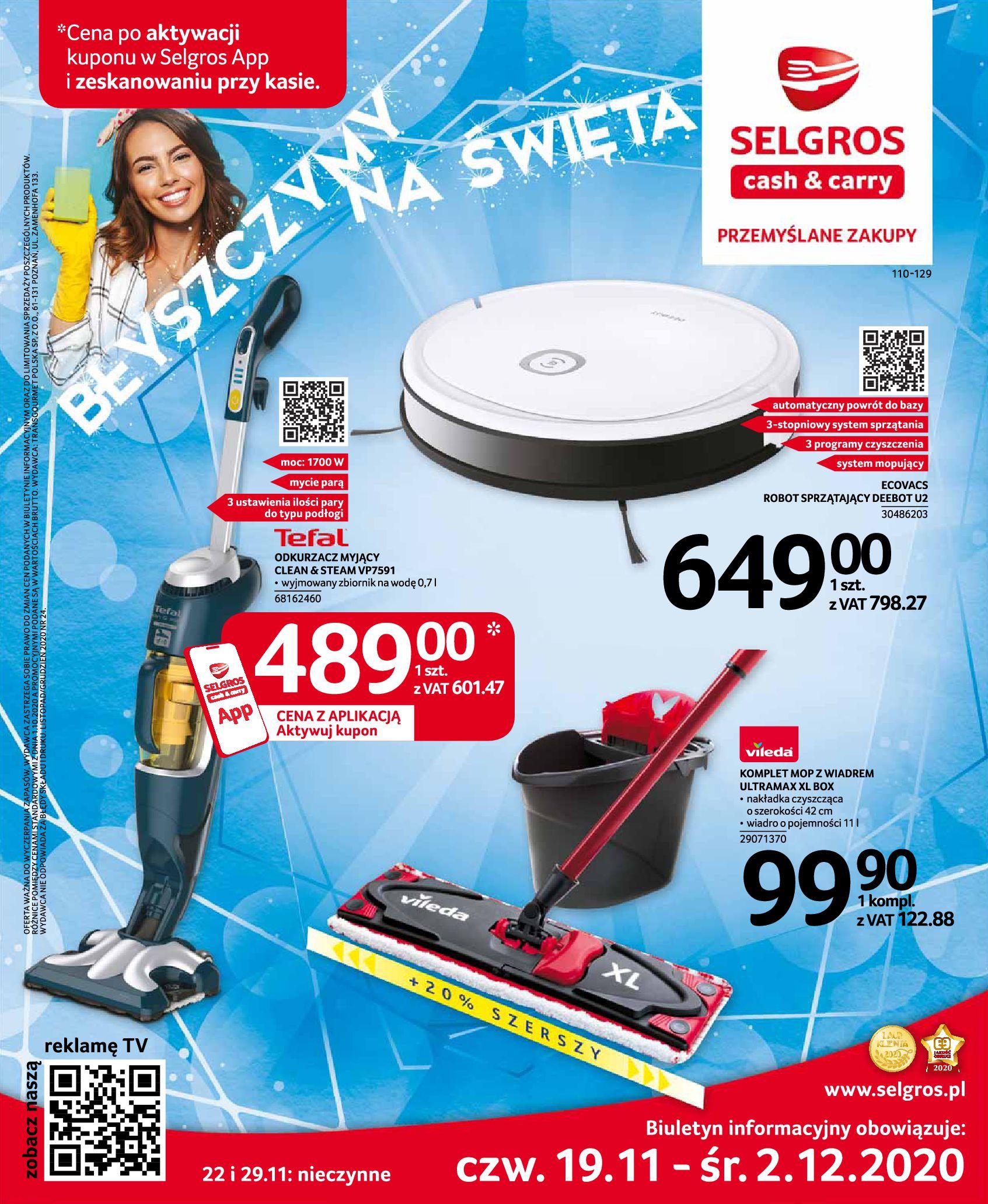 Gazetka Selgros: Katalog Sprzątanie 2020-11-19 page-1