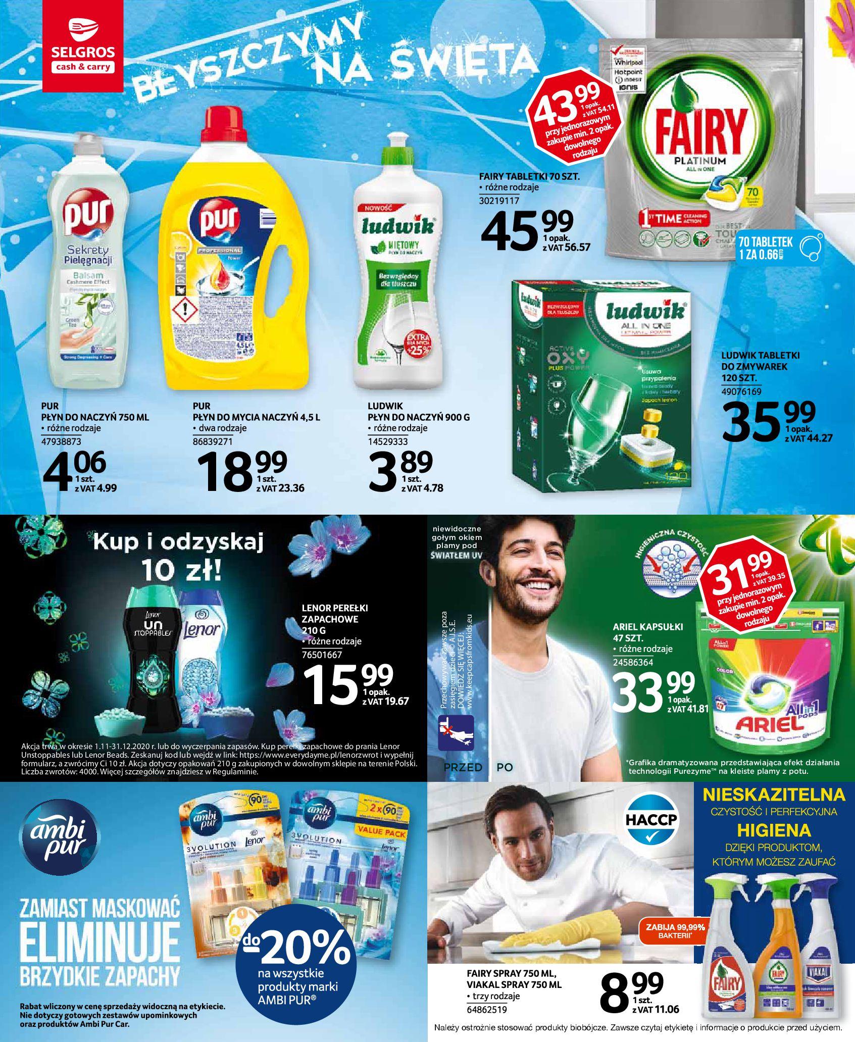 Gazetka Selgros: Katalog Sprzątanie 2020-11-19 page-4