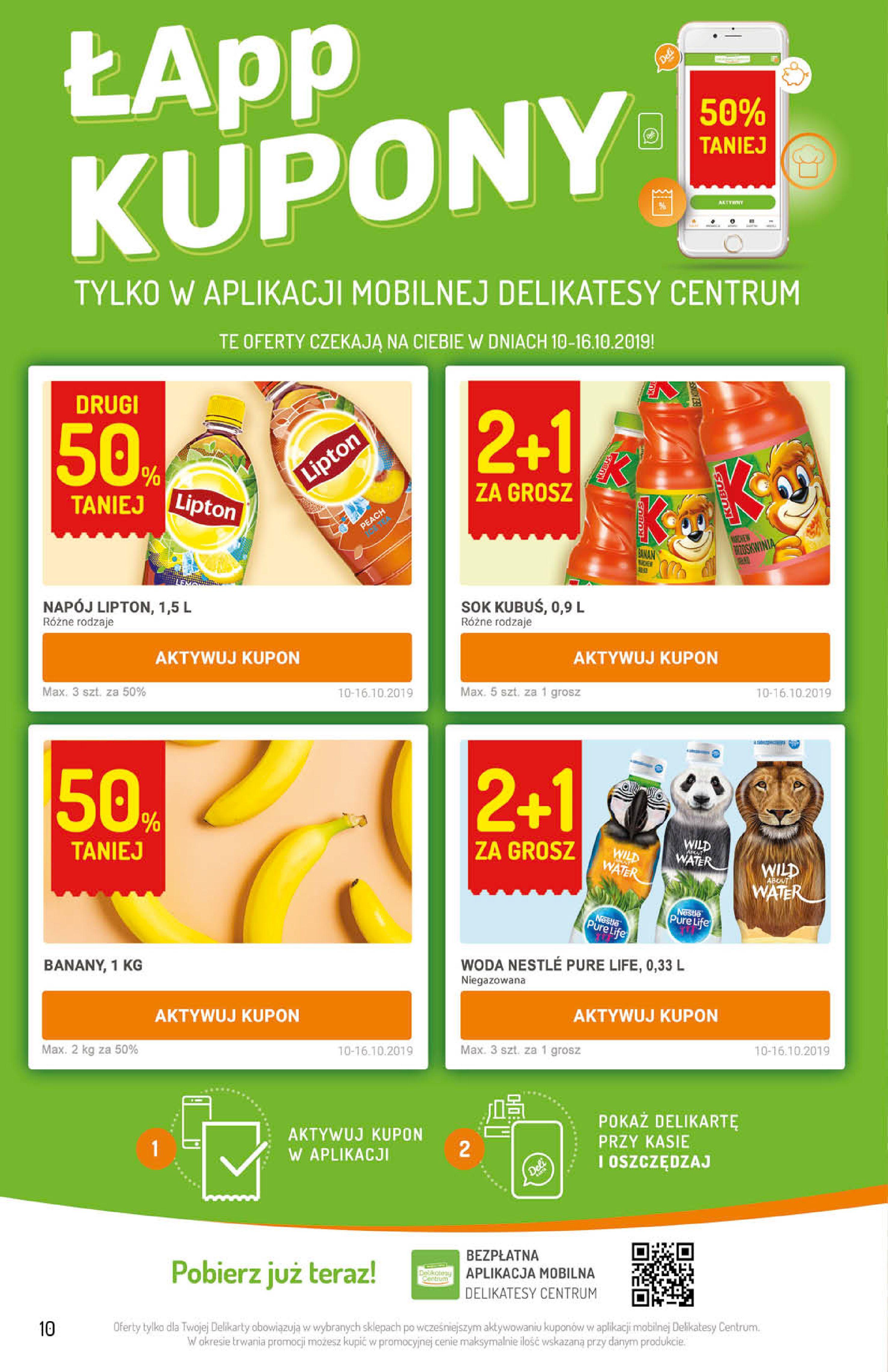 Gazetka Delikatesy Centrum - Oferta na art. spożywcze i kosmetyki-09.10.2019-16.10.2019-page-10
