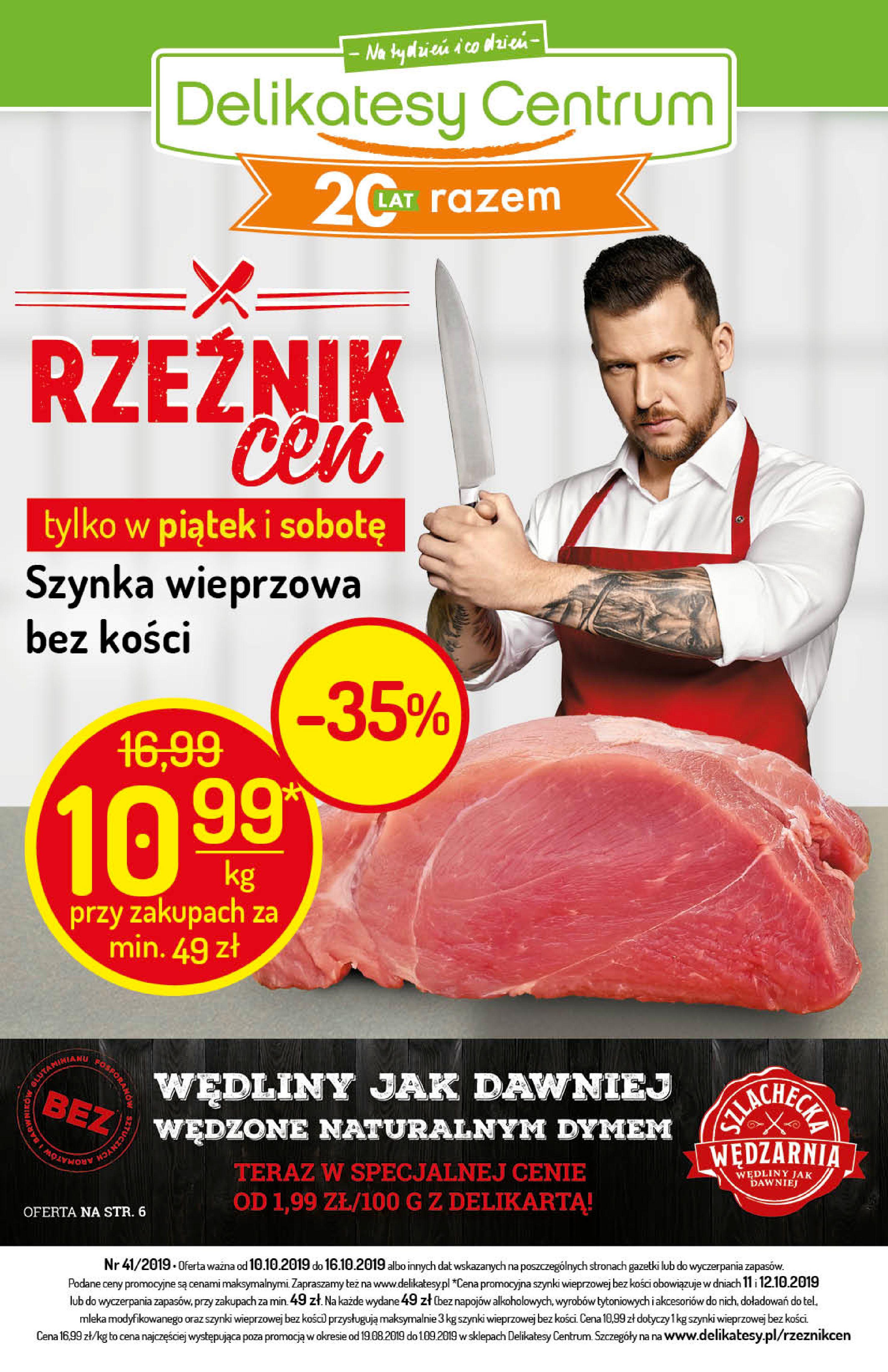 Gazetka Delikatesy Centrum - Oferta na art. spożywcze i kosmetyki-09.10.2019-16.10.2019-page-1