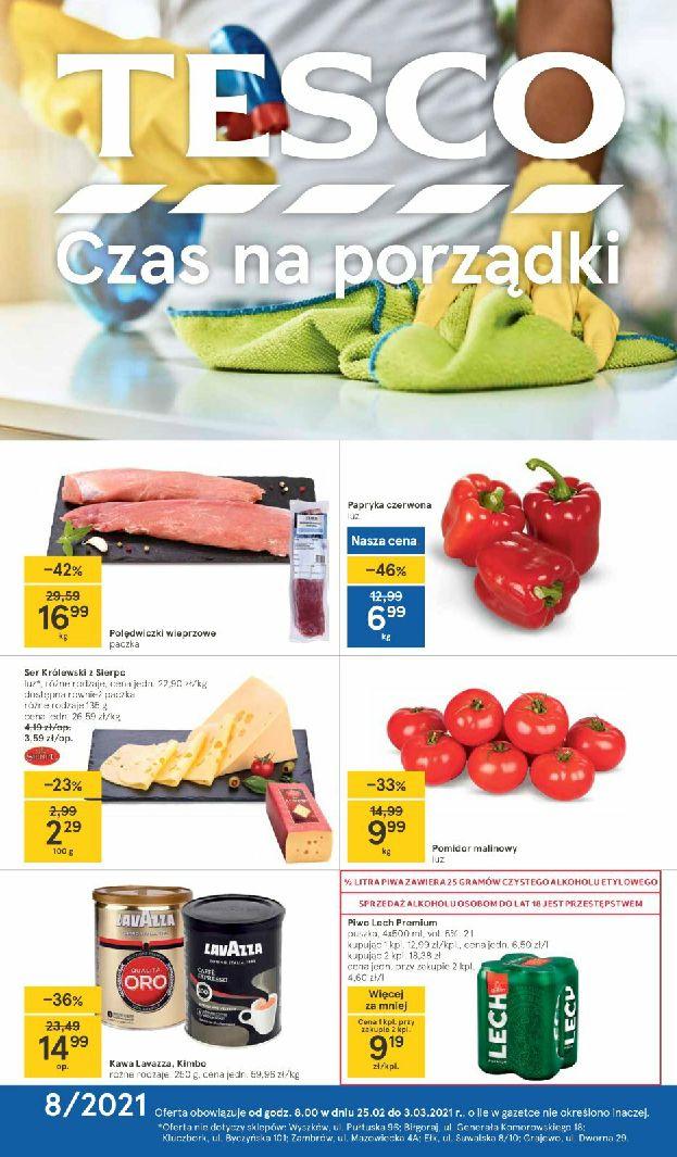 Gazetka Tesco: Gazetka promocyjna od 25.02 2021-02-25 page-1
