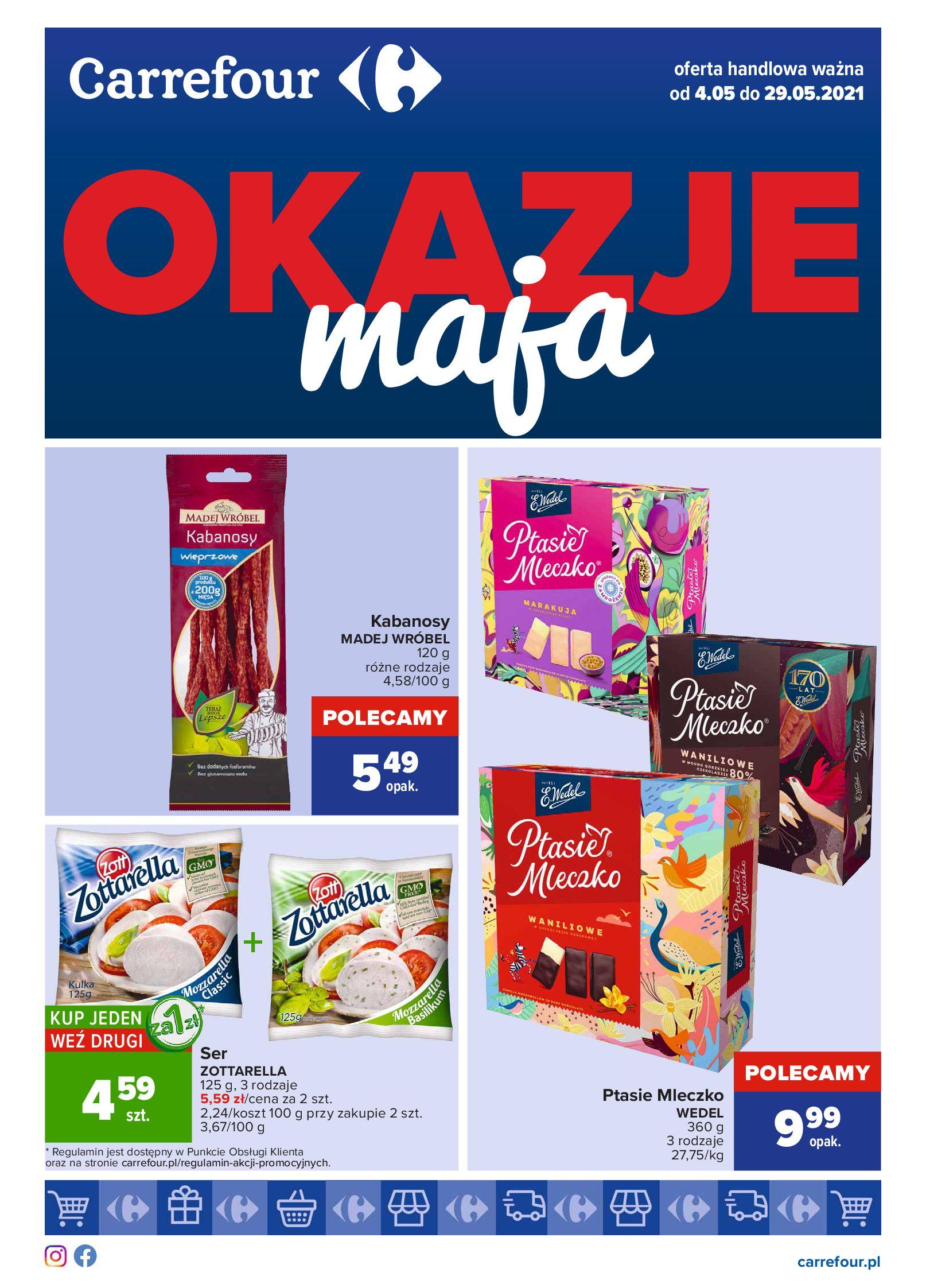 Carrefour:  Okazje maja 03.05.2021
