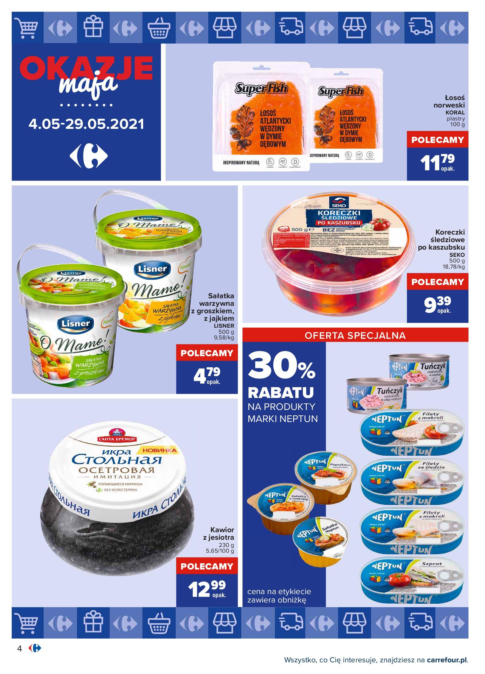 Gazetka Carrefour: Okazje maja 2021-05-04 page-4