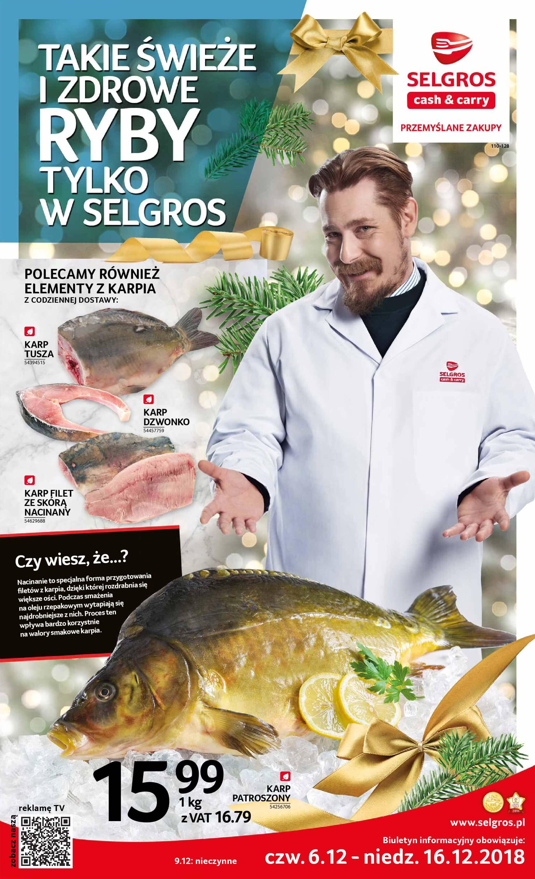 Gazetka Selgros - Takie świeże i zdrowe ryby-04.12.2018-16.12.2018-page-