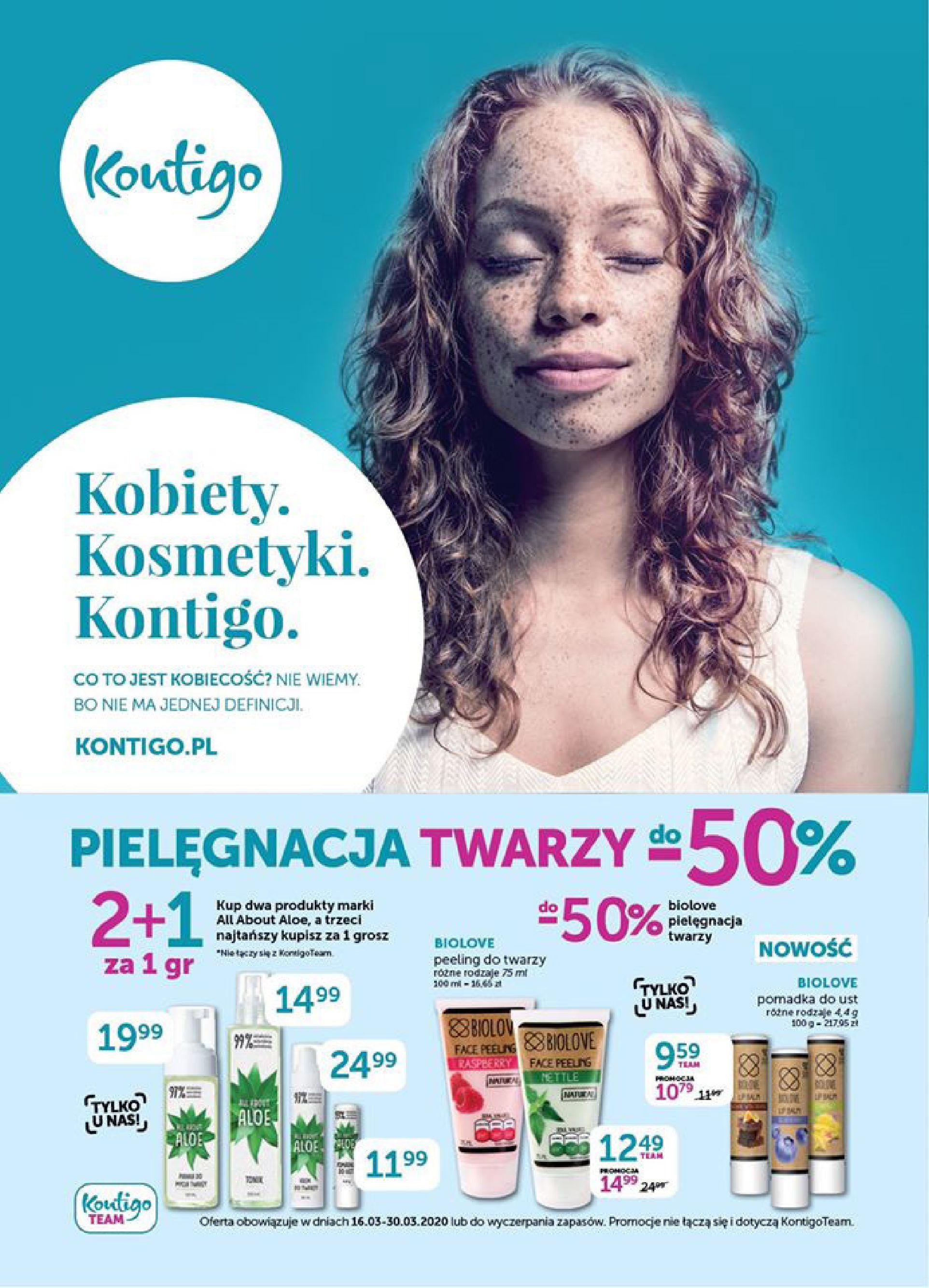 Gazetka Kontigo - Gazetka promocyjna-15.03.2020-30.03.2020-page-1