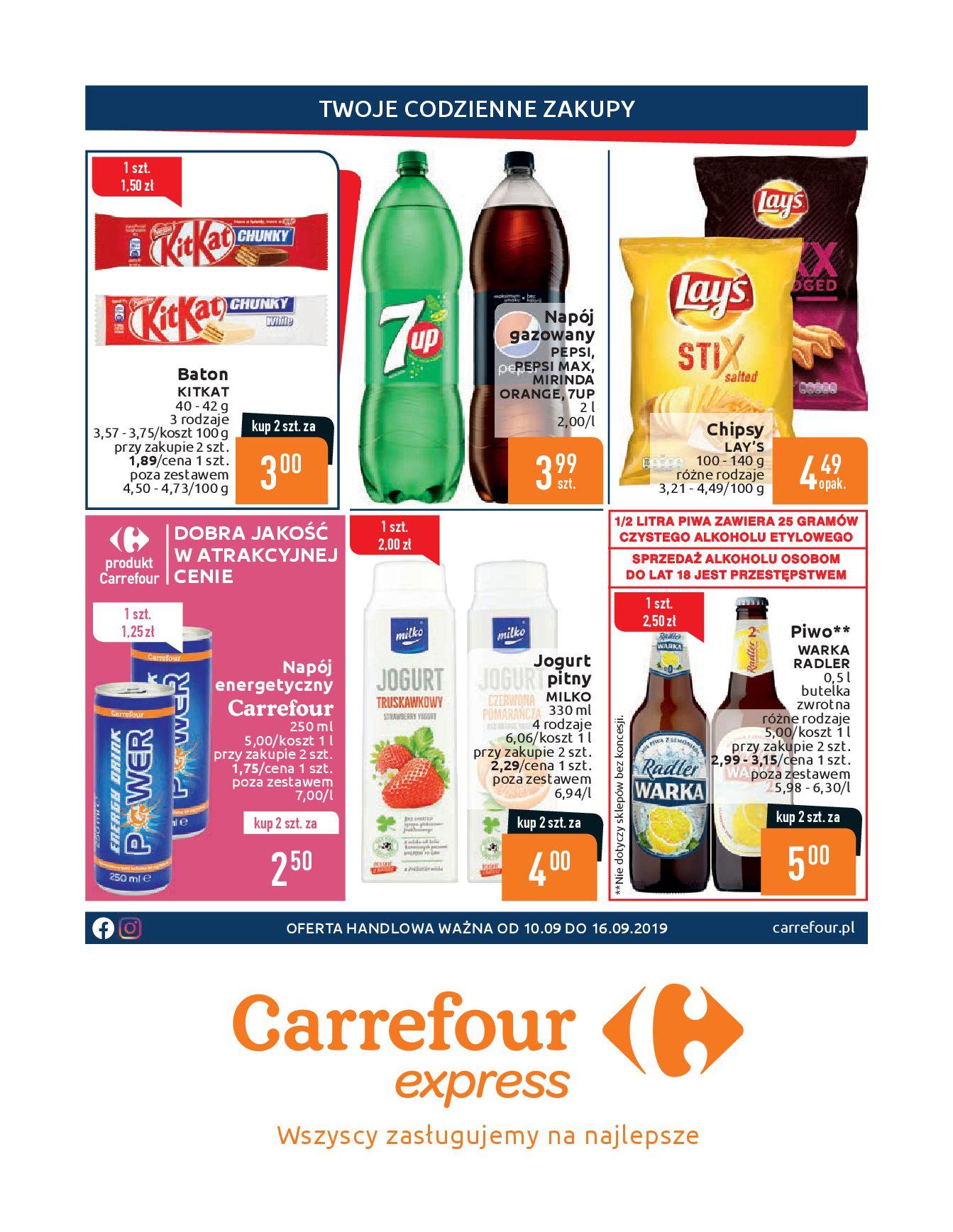 Gazetka Carrefour Express - Twoje codzienne zakupy-09.09.2019-16.09.2019-page-1