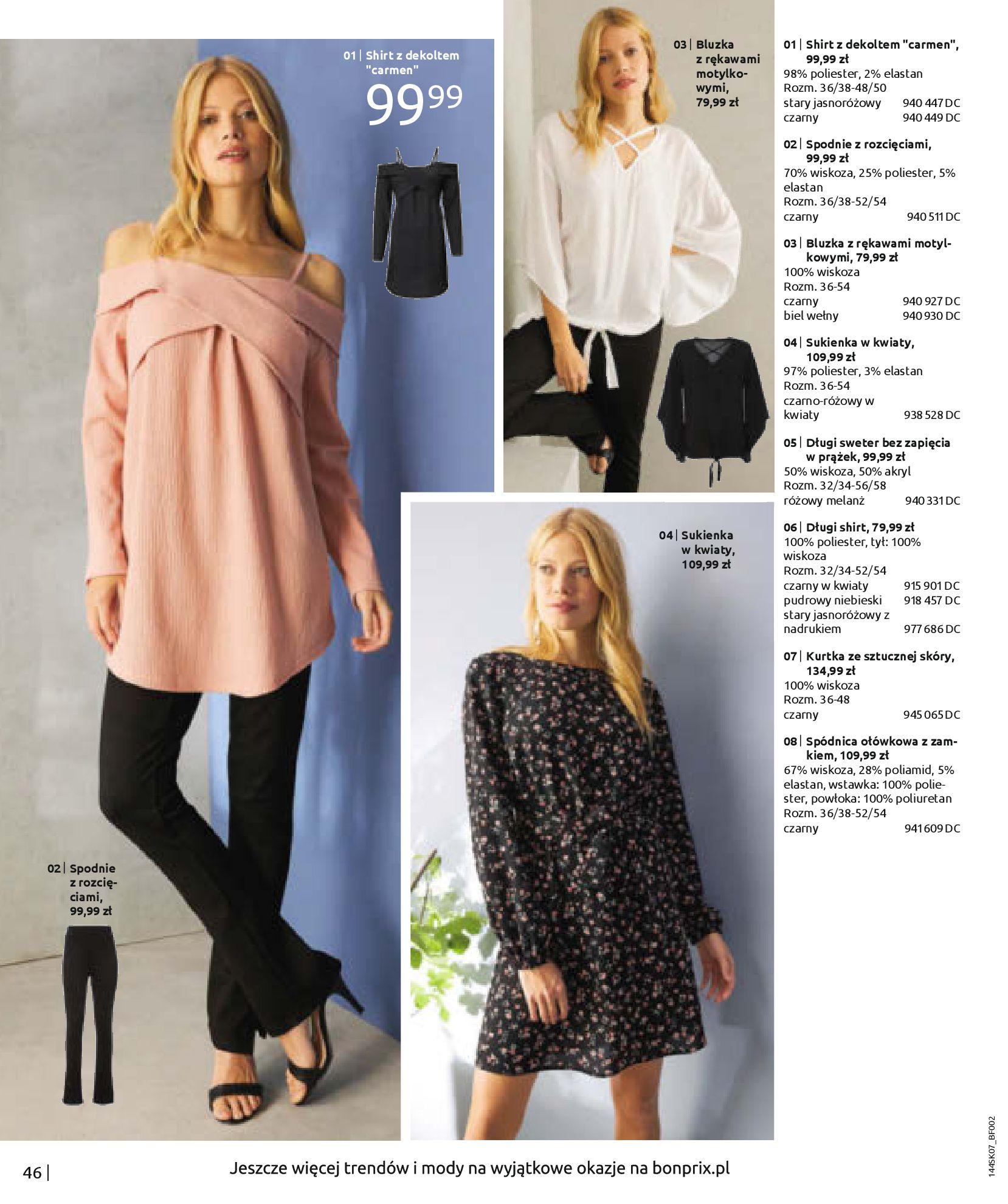Gazetka Bonprix: Katalog Bonprix - Kwiatowe desenie 2021-09-09 page-48