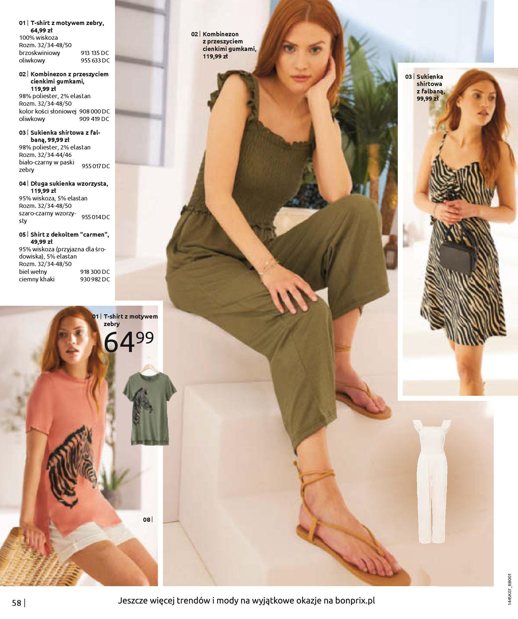 Gazetka Bonprix: Katalog Bonprix - Kwiatowe desenie 2021-09-09 page-60
