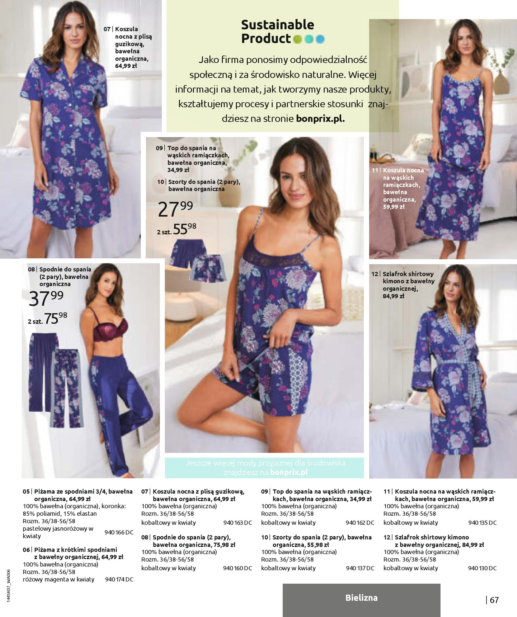 Gazetka Bonprix: Katalog Bonprix - Kwiatowe desenie 2021-09-09 page-69