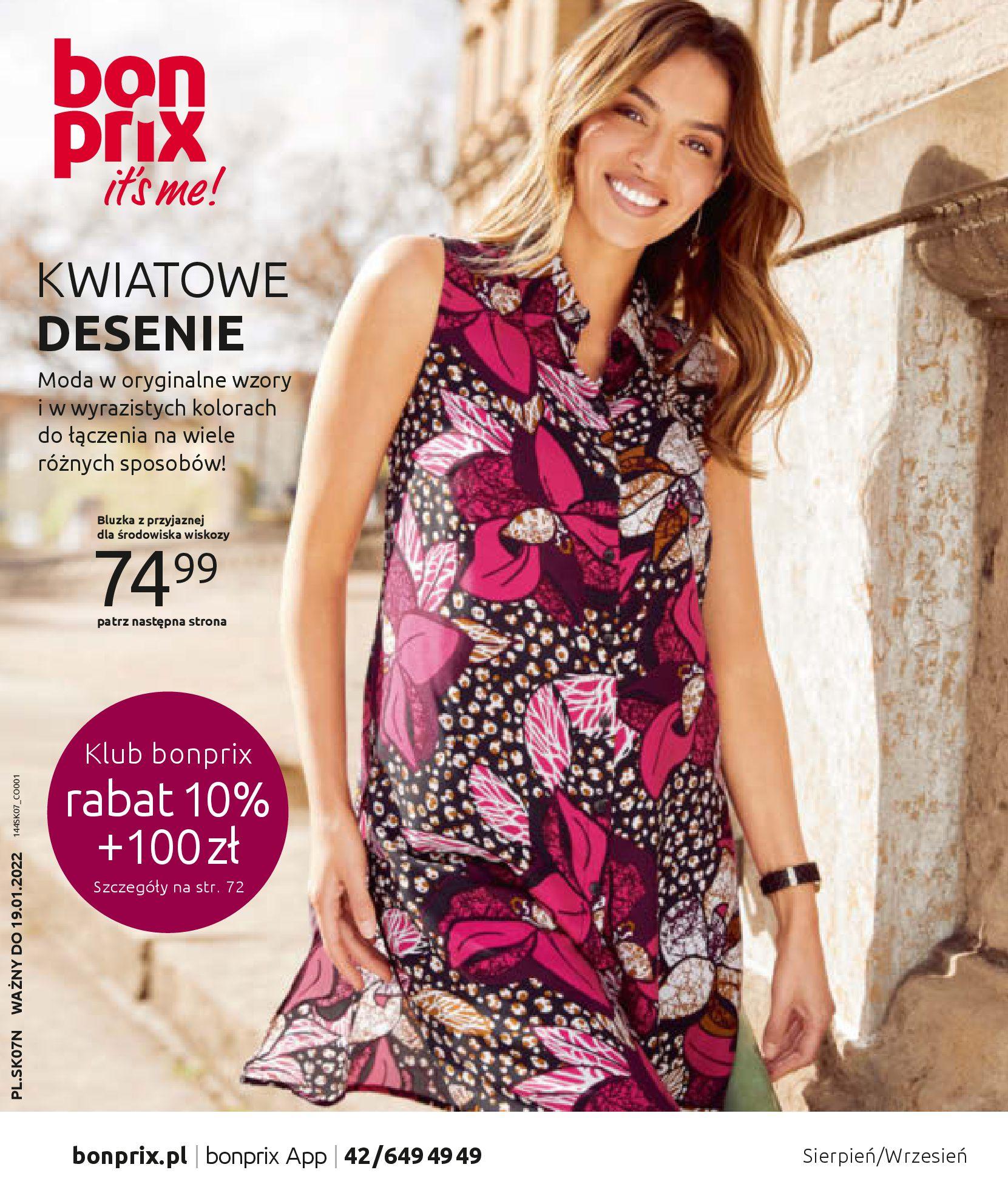 Gazetka Bonprix: Katalog Bonprix - Kwiatowe desenie 2021-09-09 page-1
