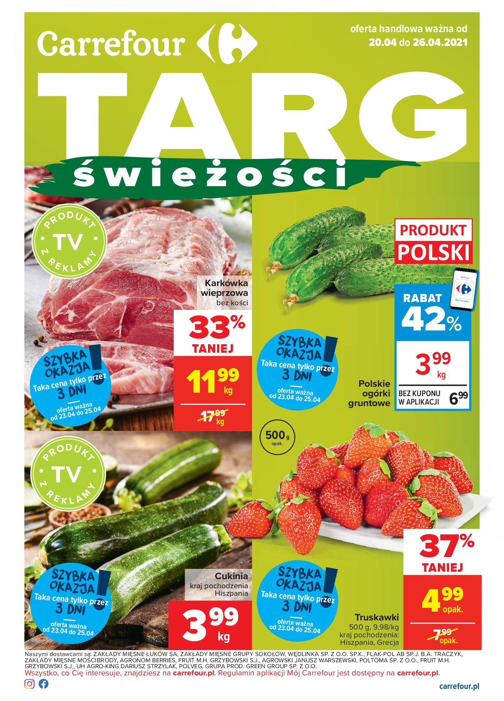 Carrefour:  Carrefour - Targ Świeżości 19.04.2021