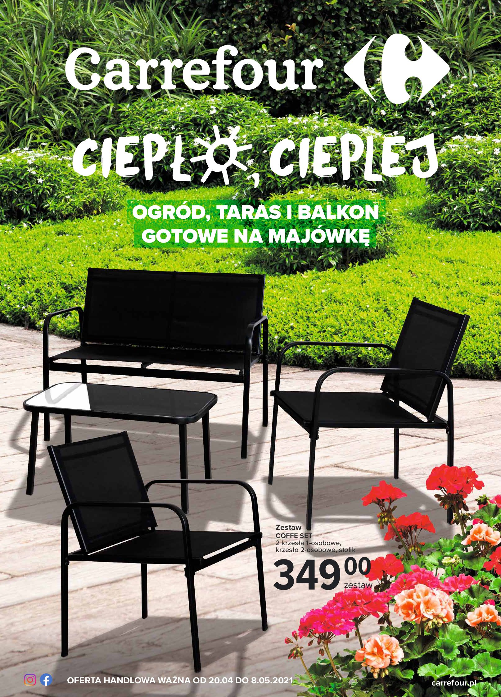 Carrefour:  Gazetka  - Ogród, taras i balkon 19.04.2021