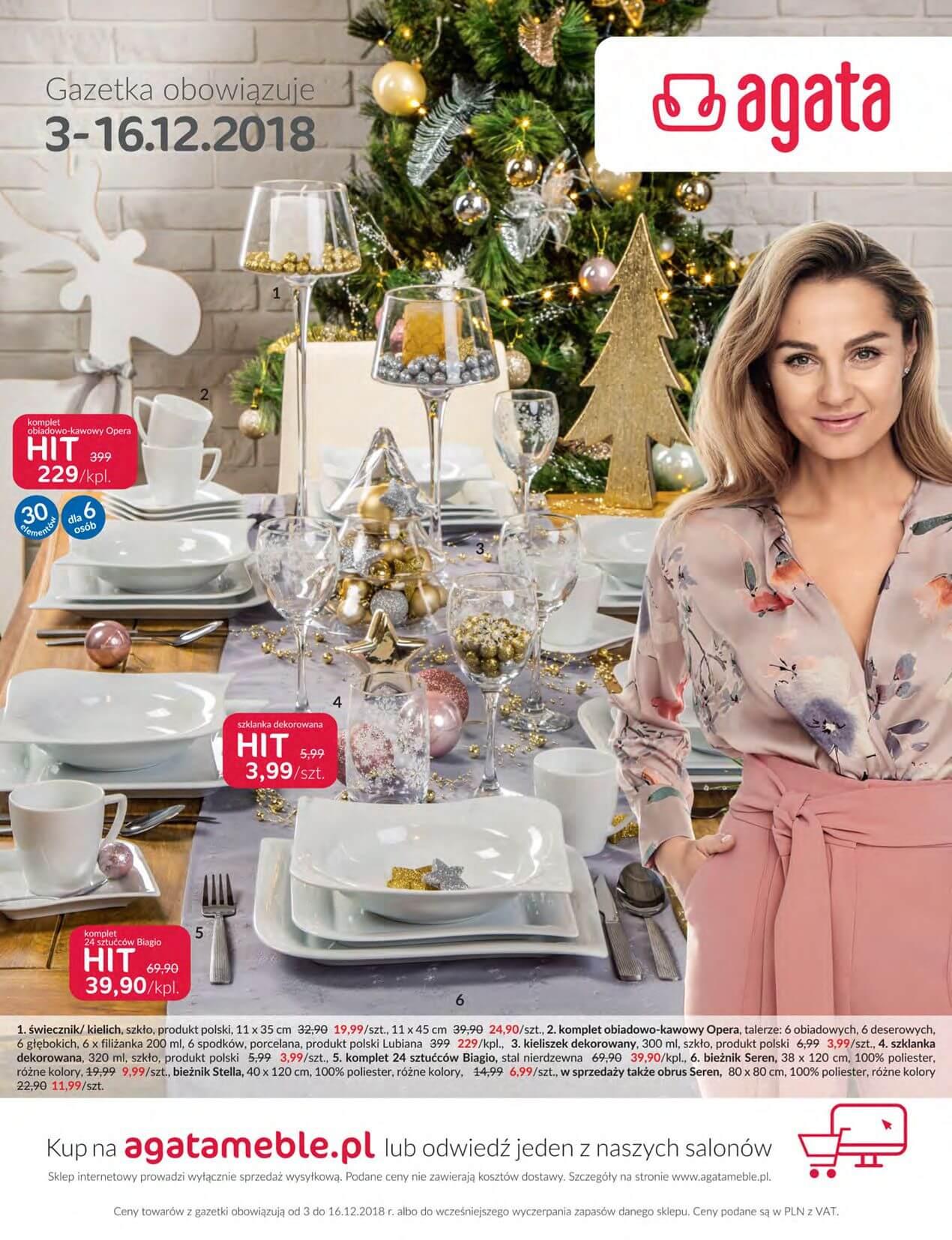 Gazetka Agata Meble - Oferta na artykuły dekoracji wnętrz-30.11.2018-16.12.2018-page-
