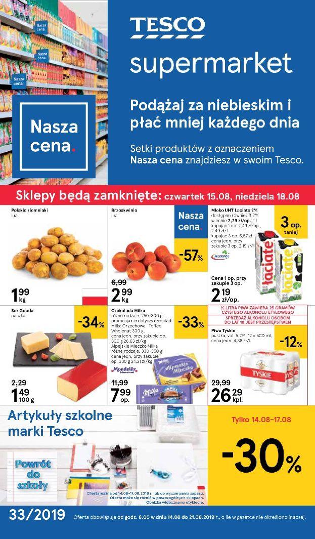 Gazetka Tesco Supermarket - Oferta na art. spożywcze i kosmetyki-13.08.2019-21.08.2019-page-1
