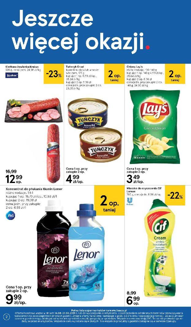 Gazetka Tesco Supermarket - Oferta na art. spożywcze i kosmetyki-13.08.2019-21.08.2019-page-2