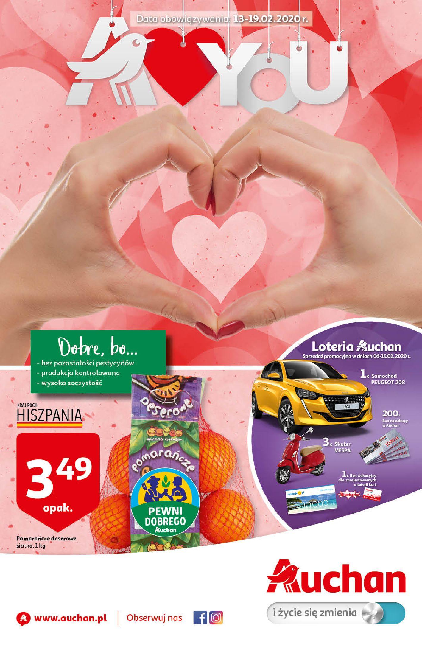 Gazetka Auchan - A love You Hipermarkety-12.02.2020-19.02.2020-page-1