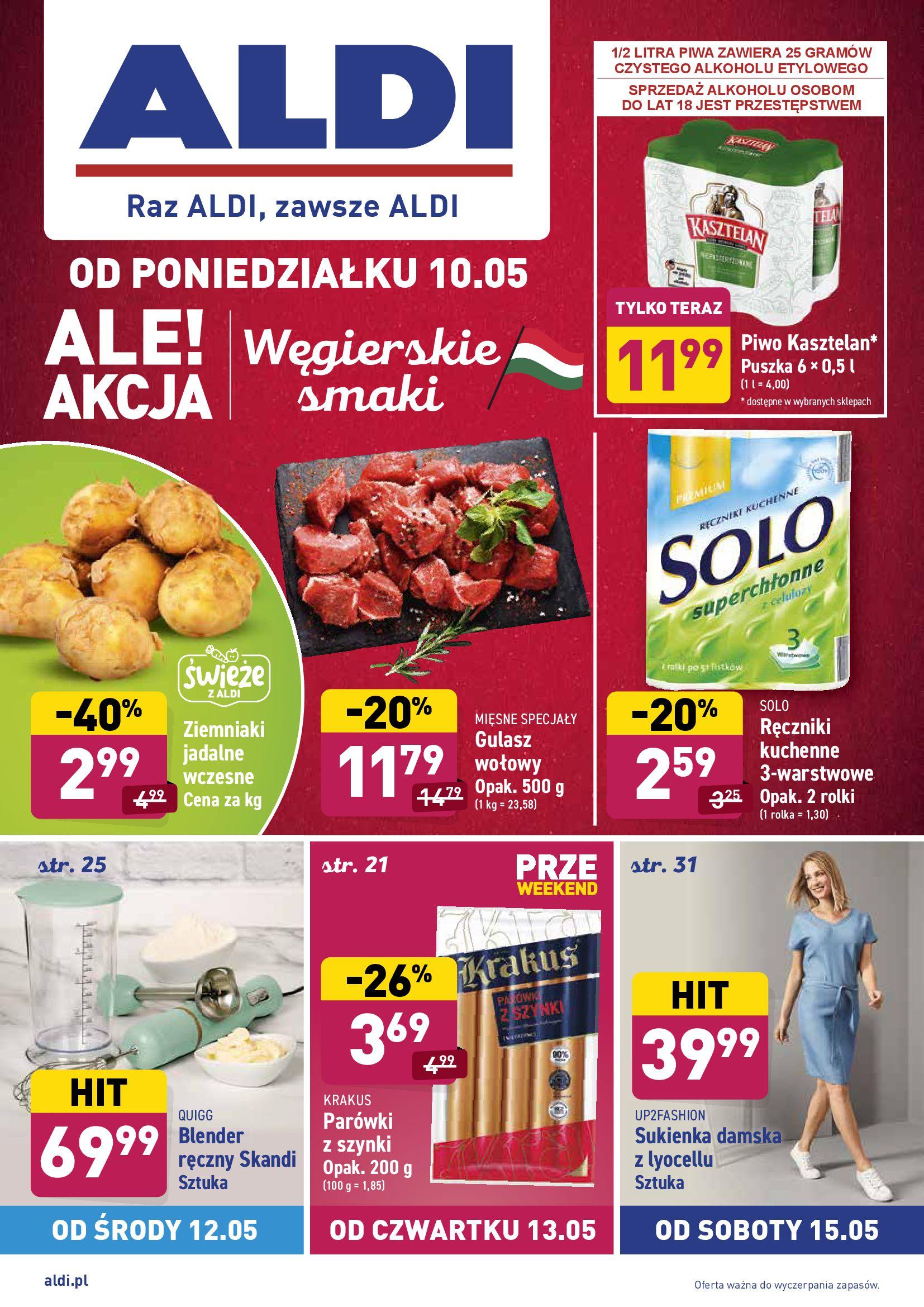 Gazetka Aldi: Gazetka Aldi - węgierskie smaki 2021-05-10