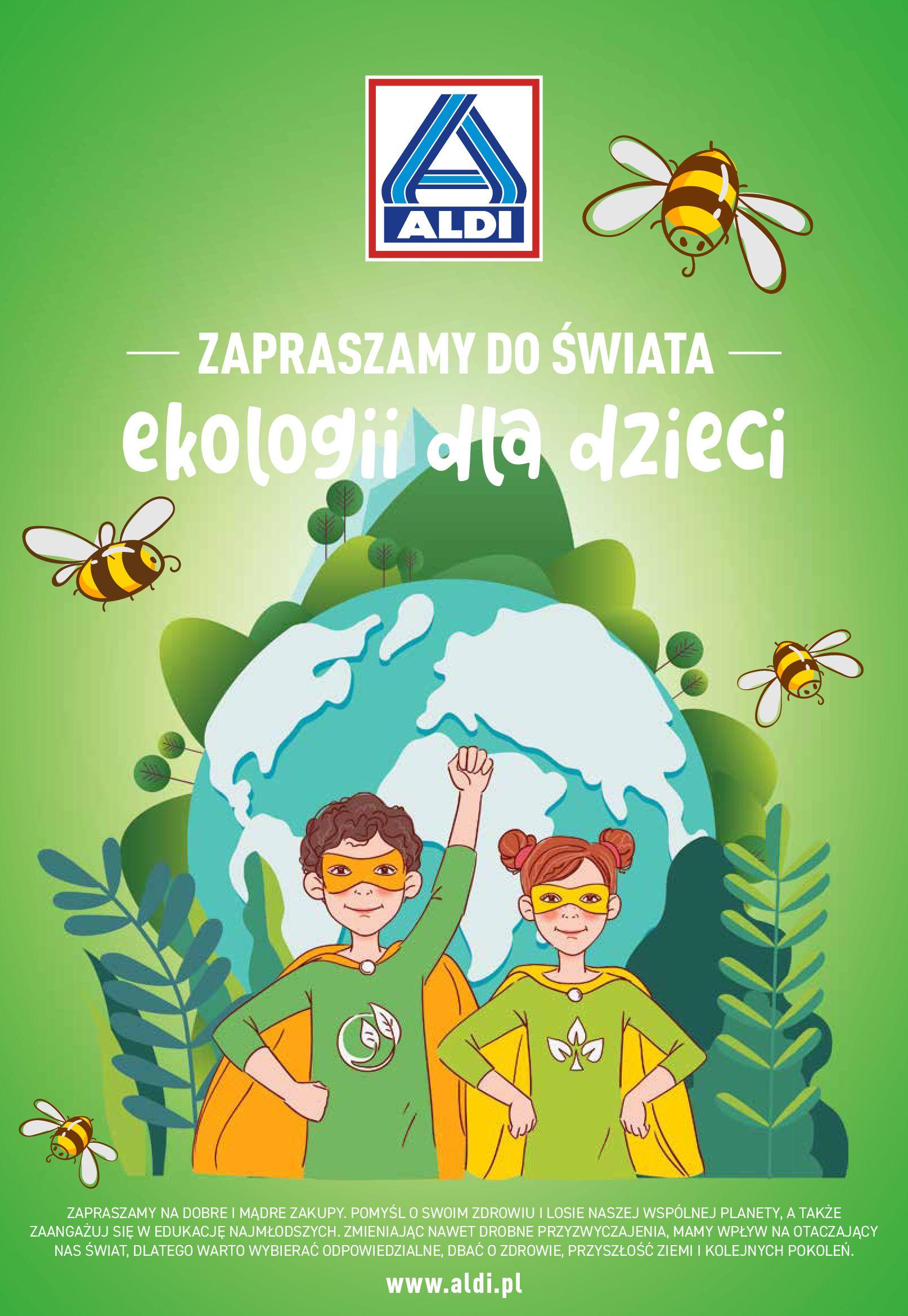 Aldi:  Gazetka Aldi - Zapraszamy do świata ekologii dla dzieci 31.05.2021