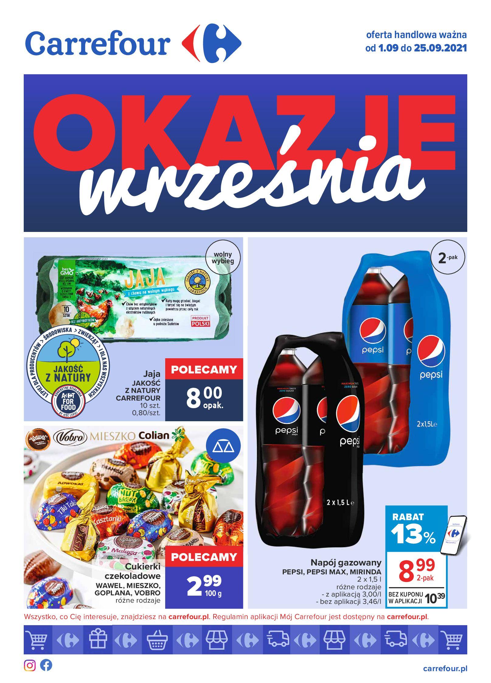 Carrefour:  Gazetka Carrefour - Okazje Września 31.08.2021