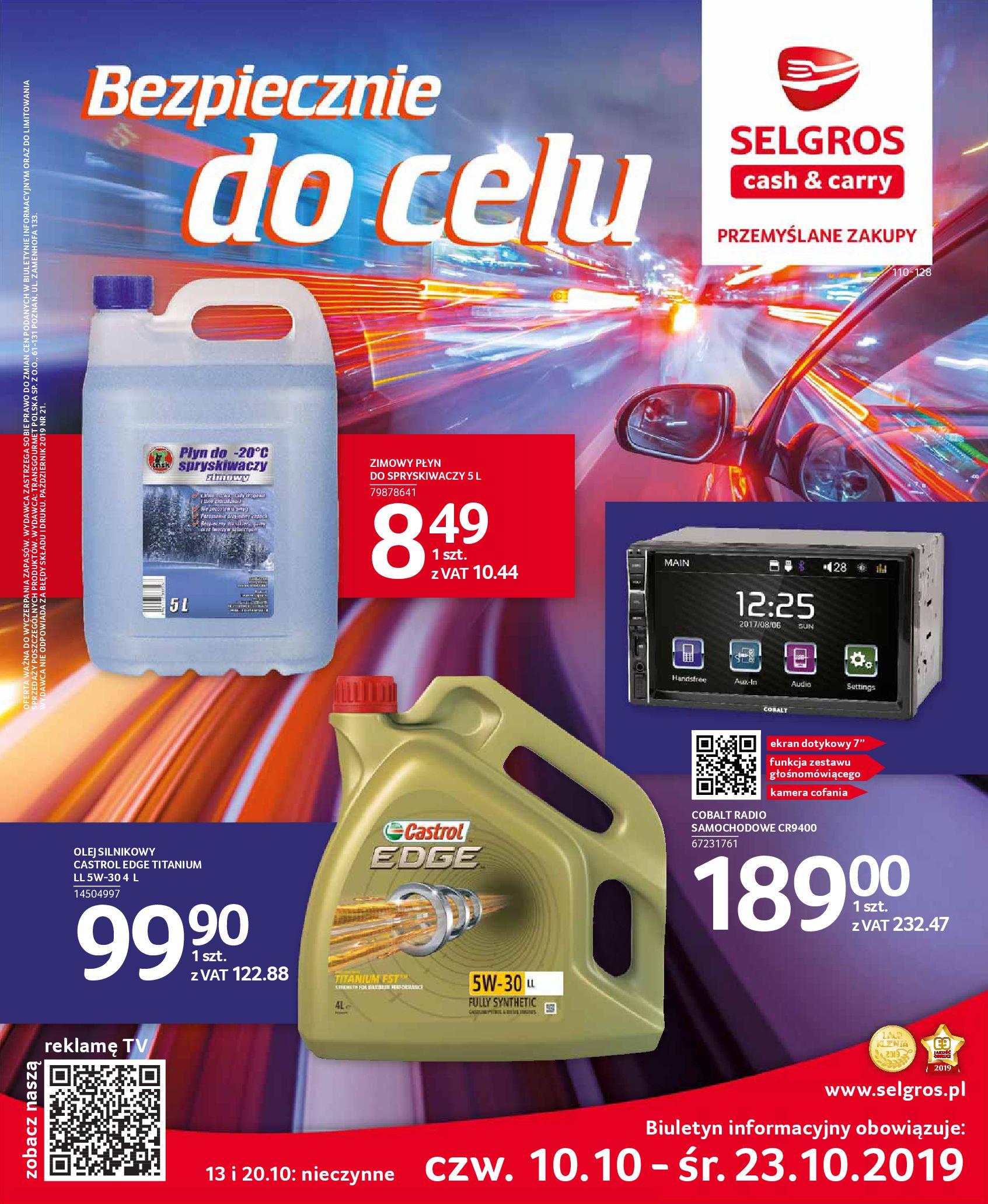 Gazetka Selgros - Katalog Auto-09.10.2019-23.10.2019-page-1
