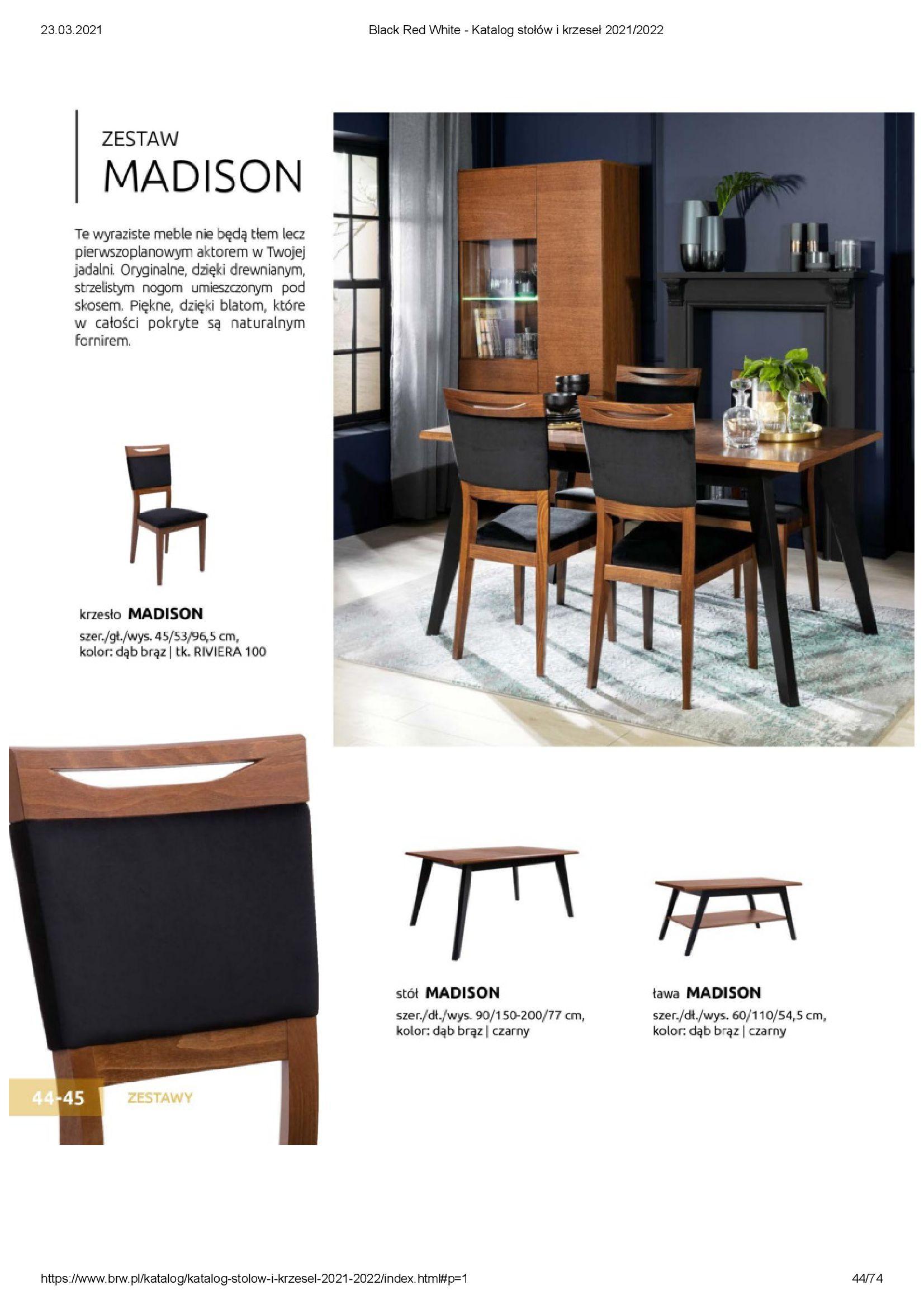 Gazetka Black Red White: Katalog stołów i krzeseł 2021-03-23 page-44
