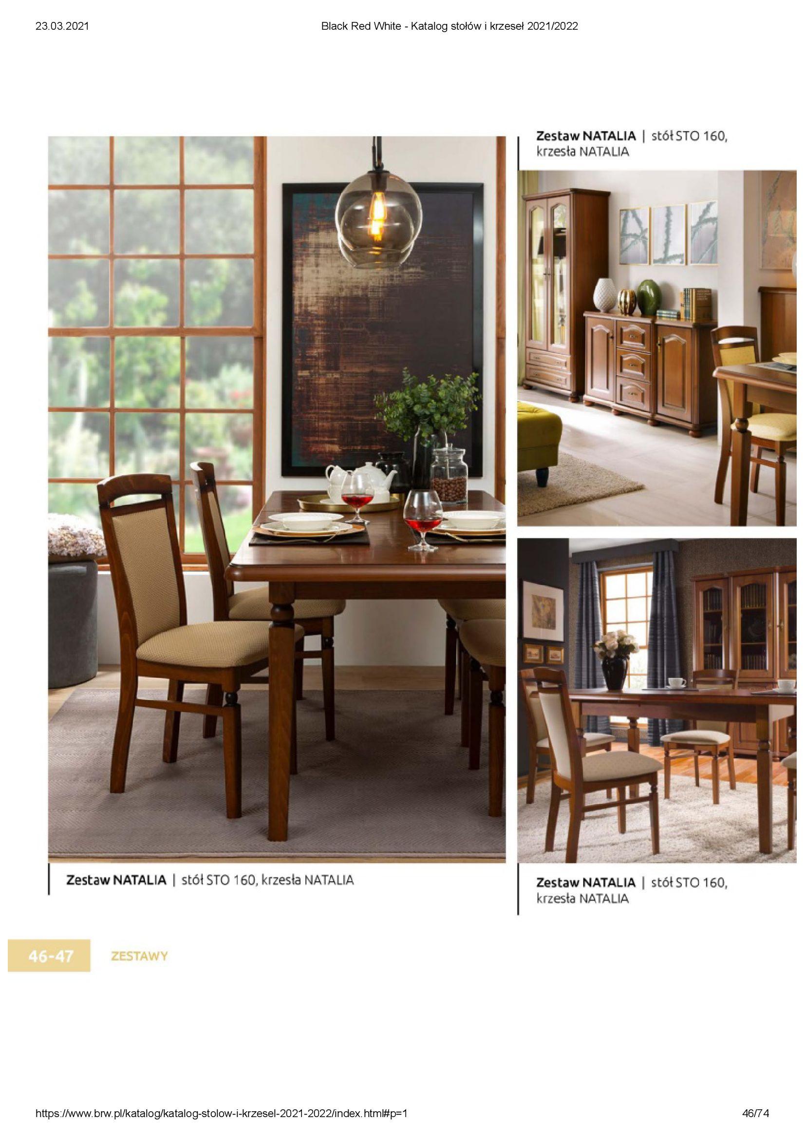 Gazetka Black Red White: Katalog stołów i krzeseł 2021-03-23 page-46