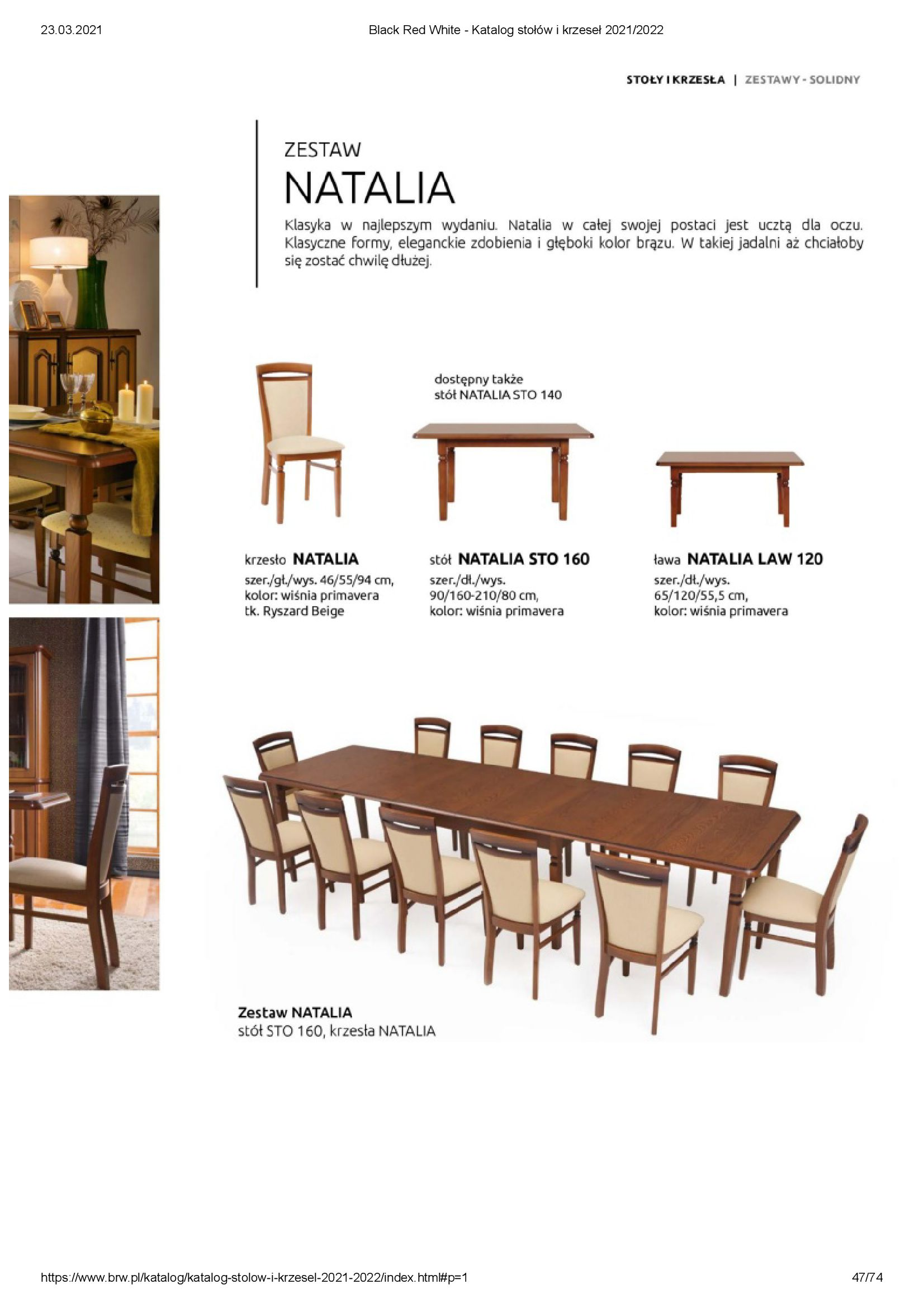 Gazetka Black Red White: Katalog stołów i krzeseł 2021-03-23 page-47