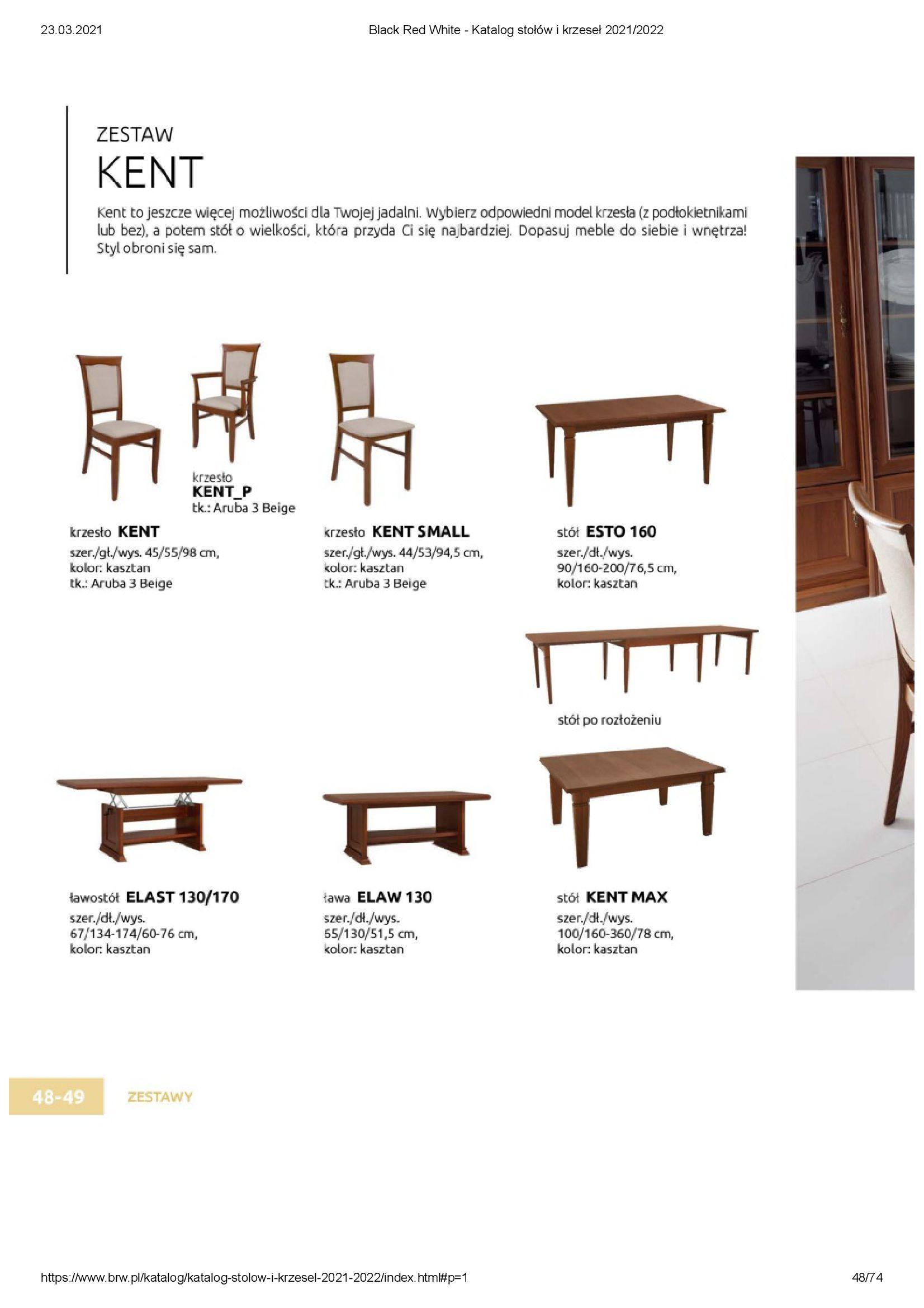 Gazetka Black Red White: Katalog stołów i krzeseł 2021-03-23 page-48