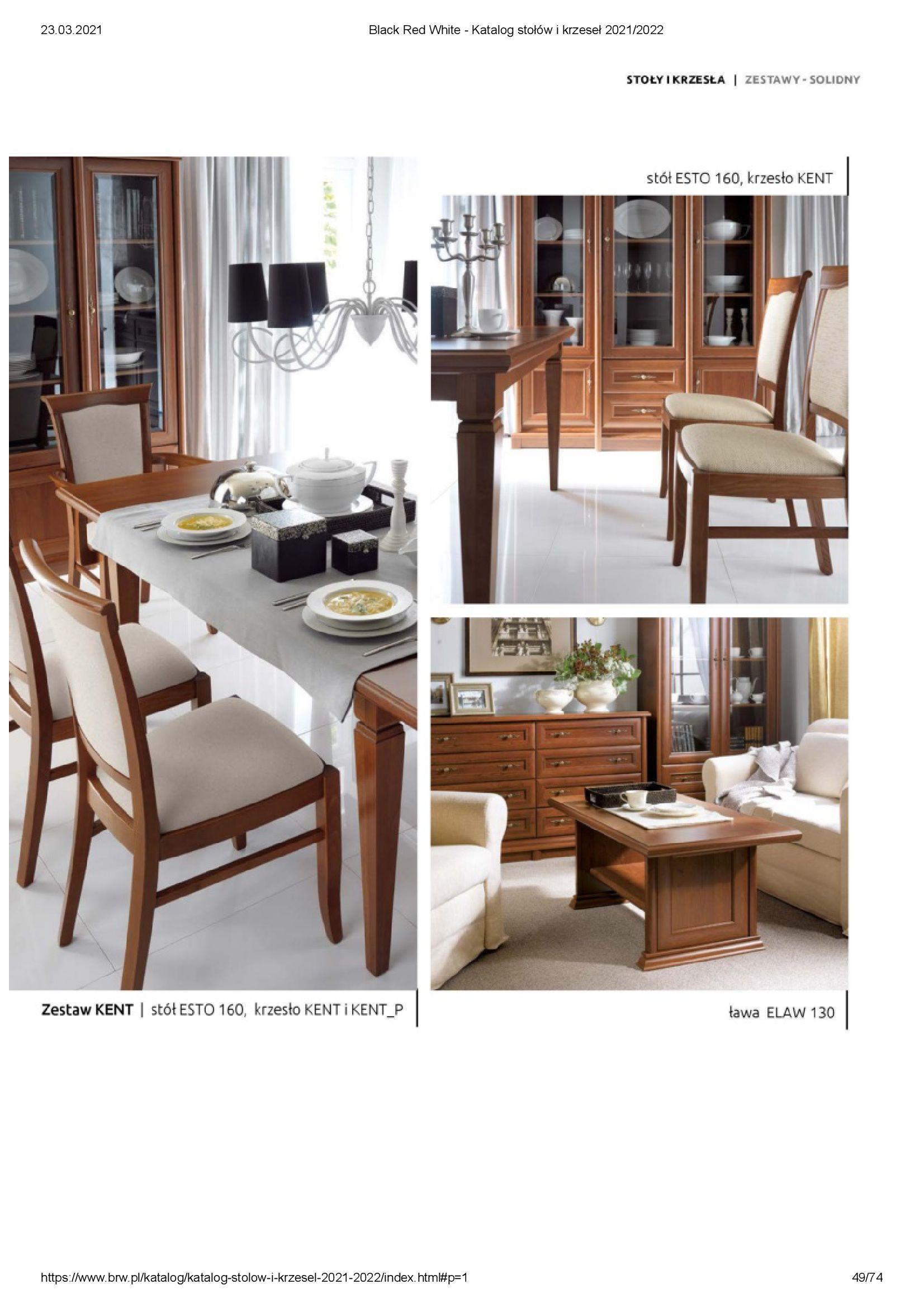 Gazetka Black Red White: Katalog stołów i krzeseł 2021-03-23 page-49