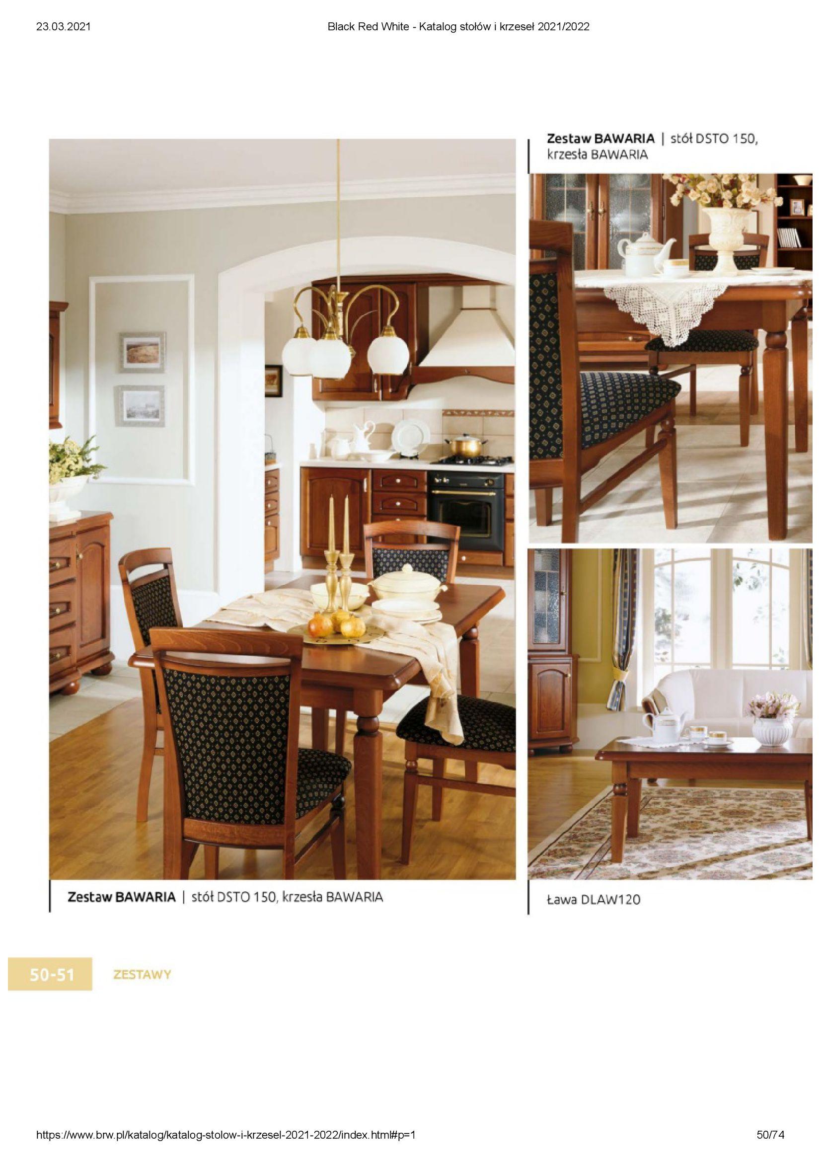 Gazetka Black Red White: Katalog stołów i krzeseł 2021-03-23 page-50