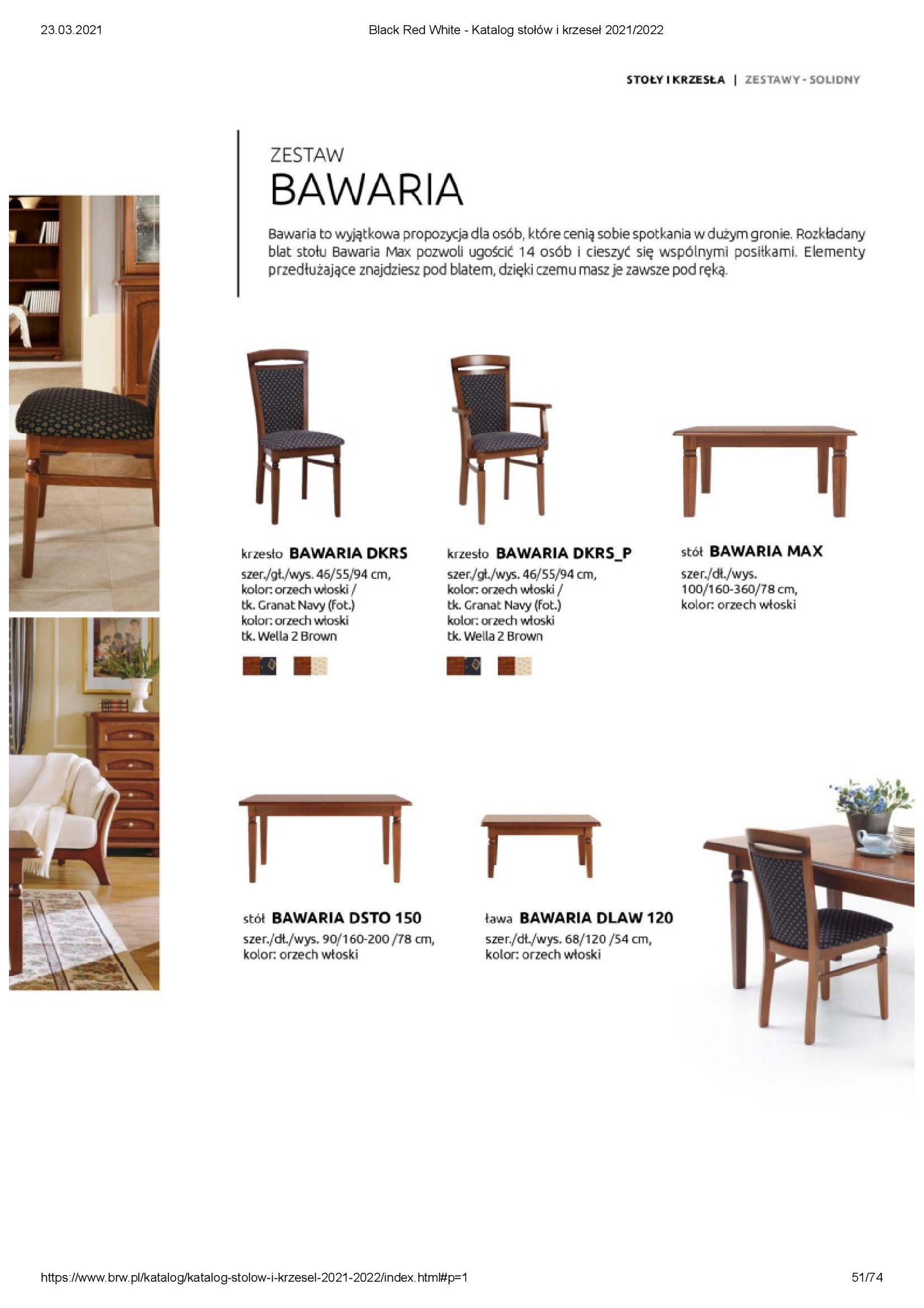 Gazetka Black Red White: Katalog stołów i krzeseł 2021-03-23 page-51