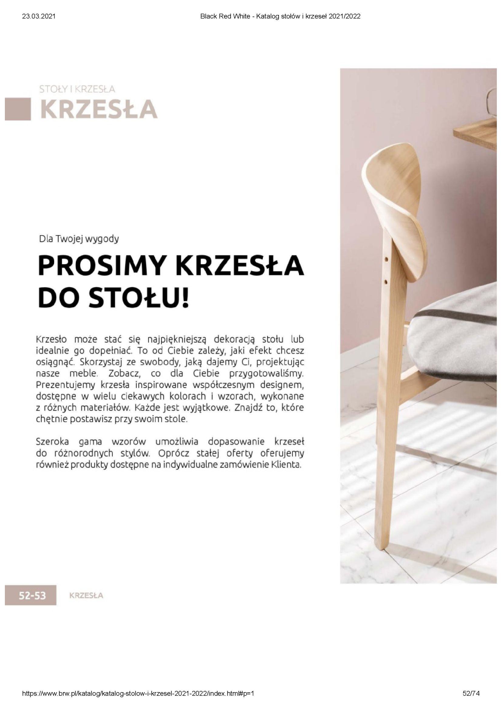Gazetka Black Red White: Katalog stołów i krzeseł 2021-03-23 page-52