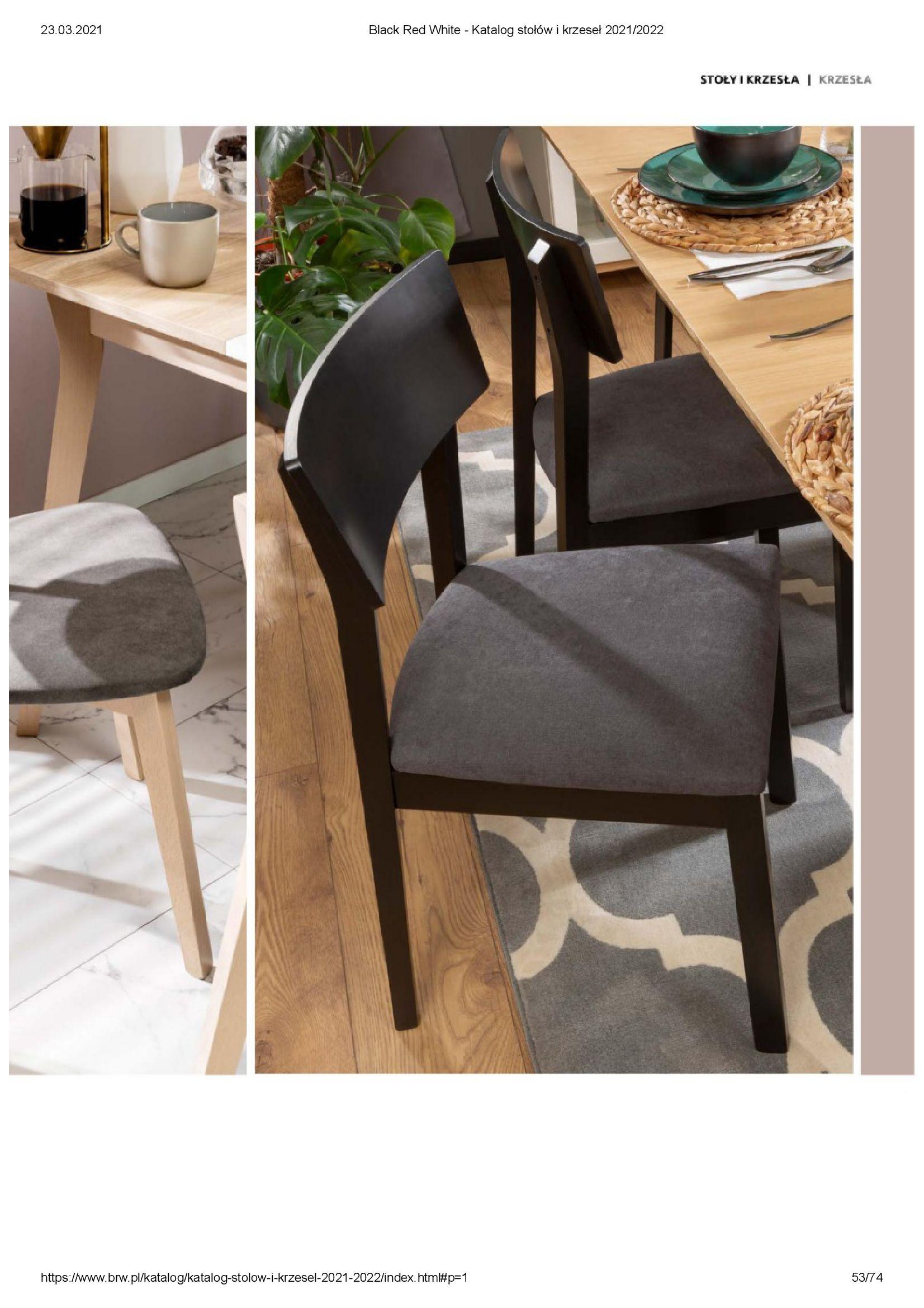 Gazetka Black Red White: Katalog stołów i krzeseł 2021-03-23 page-53