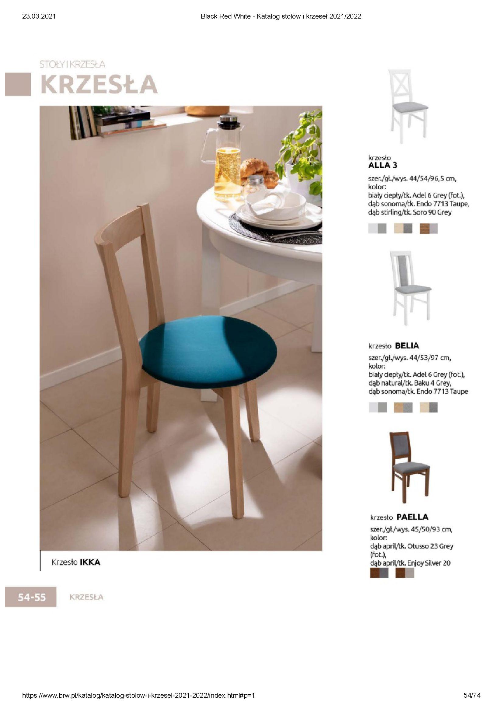 Gazetka Black Red White: Katalog stołów i krzeseł 2021-03-23 page-54