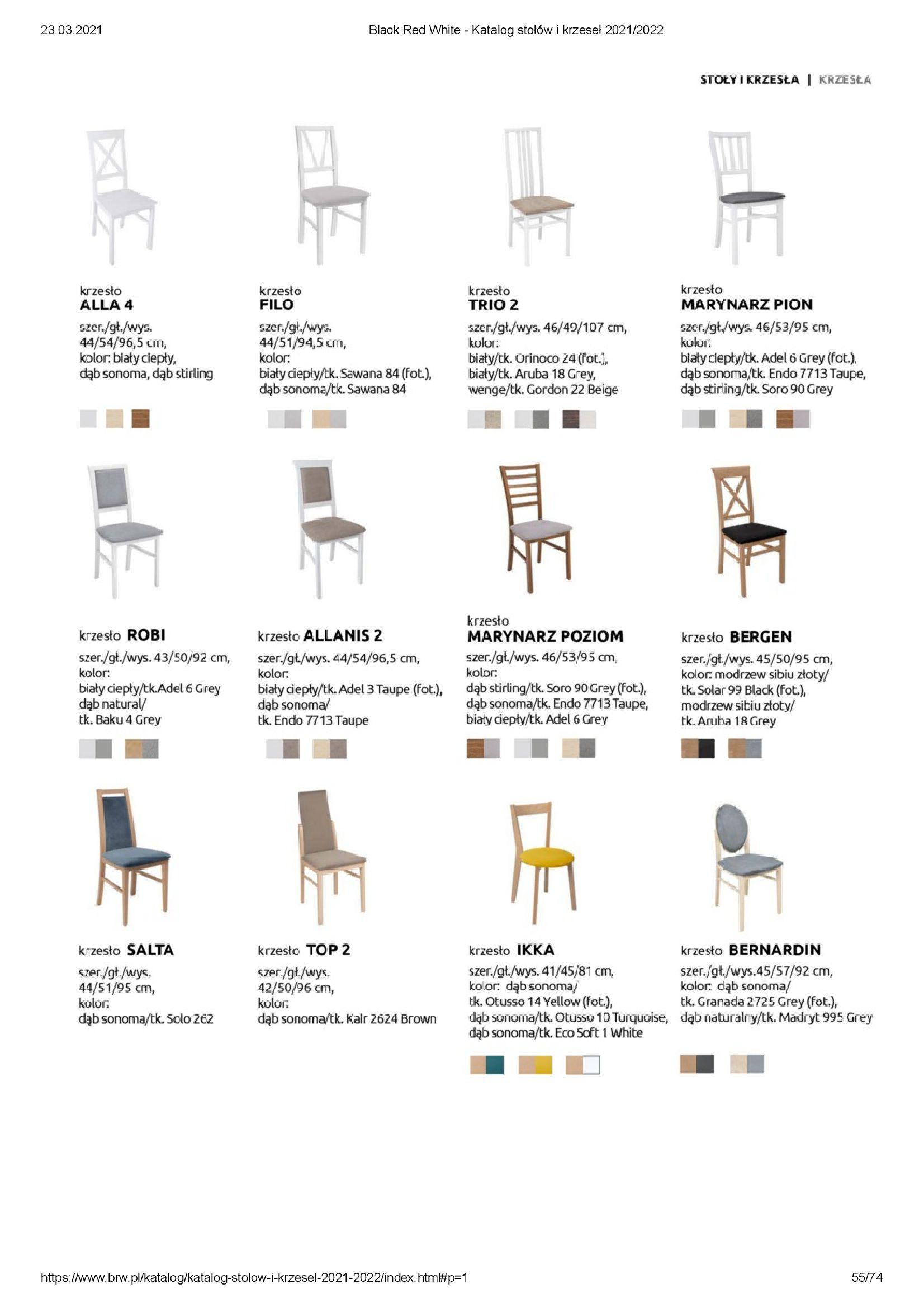 Gazetka Black Red White: Katalog stołów i krzeseł 2021-03-23 page-55