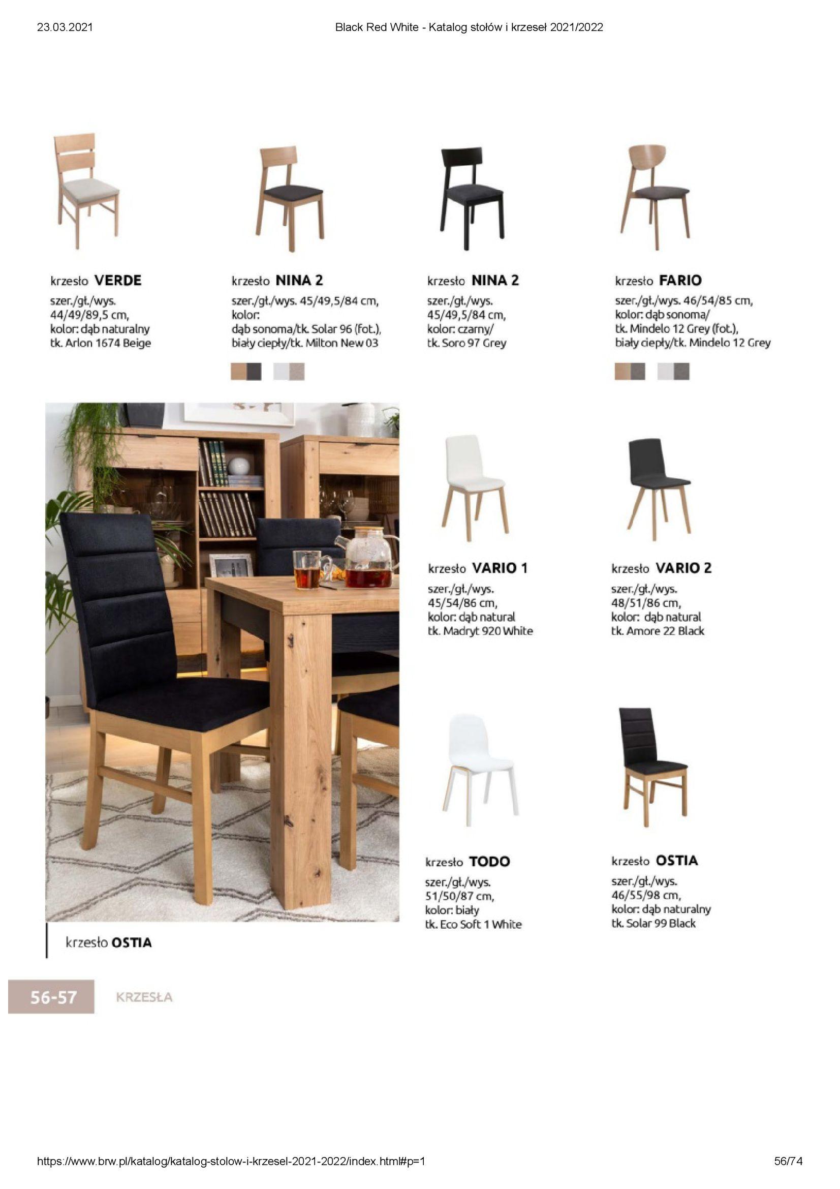 Gazetka Black Red White: Katalog stołów i krzeseł 2021-03-23 page-56