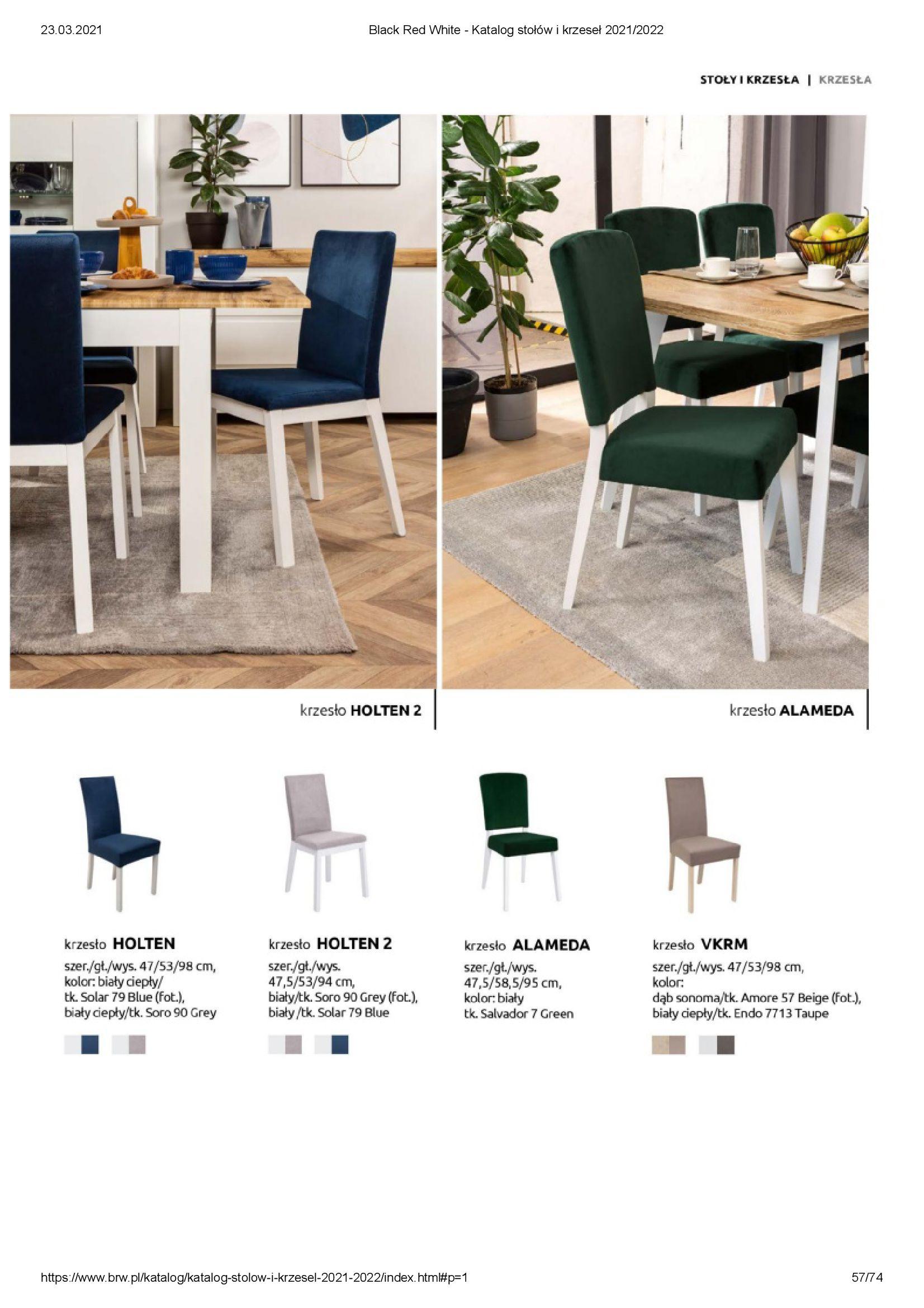 Gazetka Black Red White: Katalog stołów i krzeseł 2021-03-23 page-57