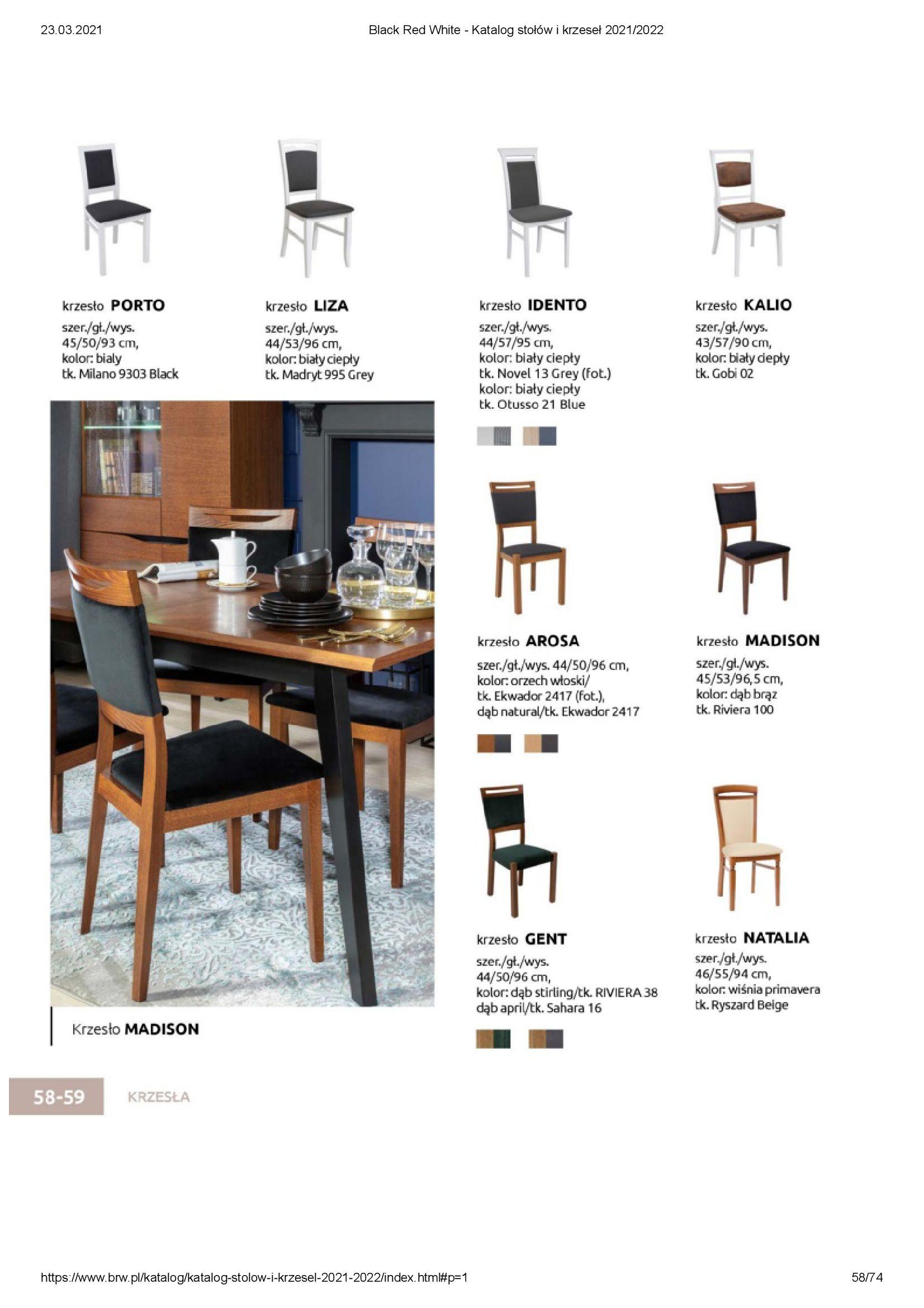 Gazetka Black Red White: Katalog stołów i krzeseł 2021-03-23 page-58