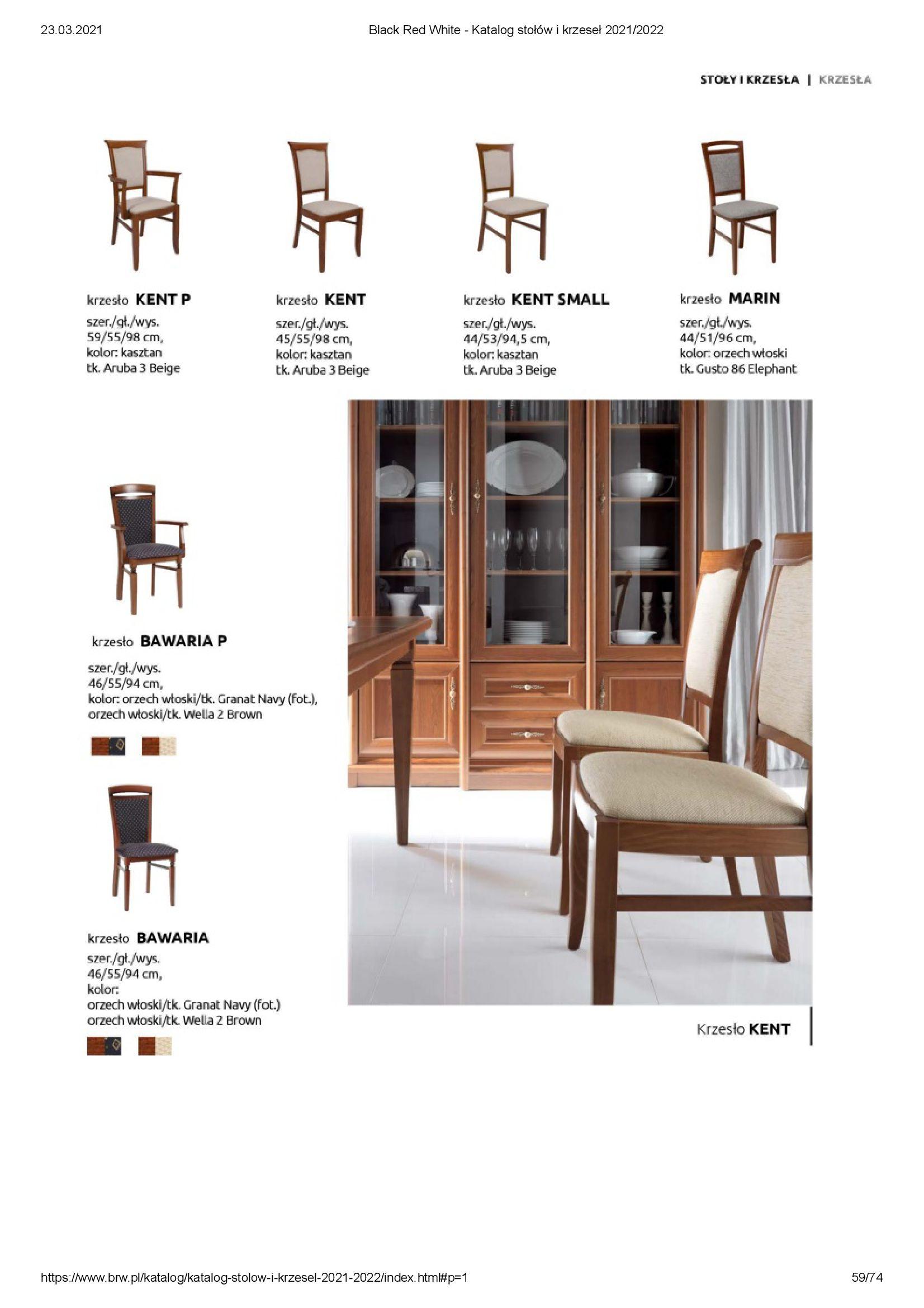 Gazetka Black Red White: Katalog stołów i krzeseł 2021-03-23 page-59